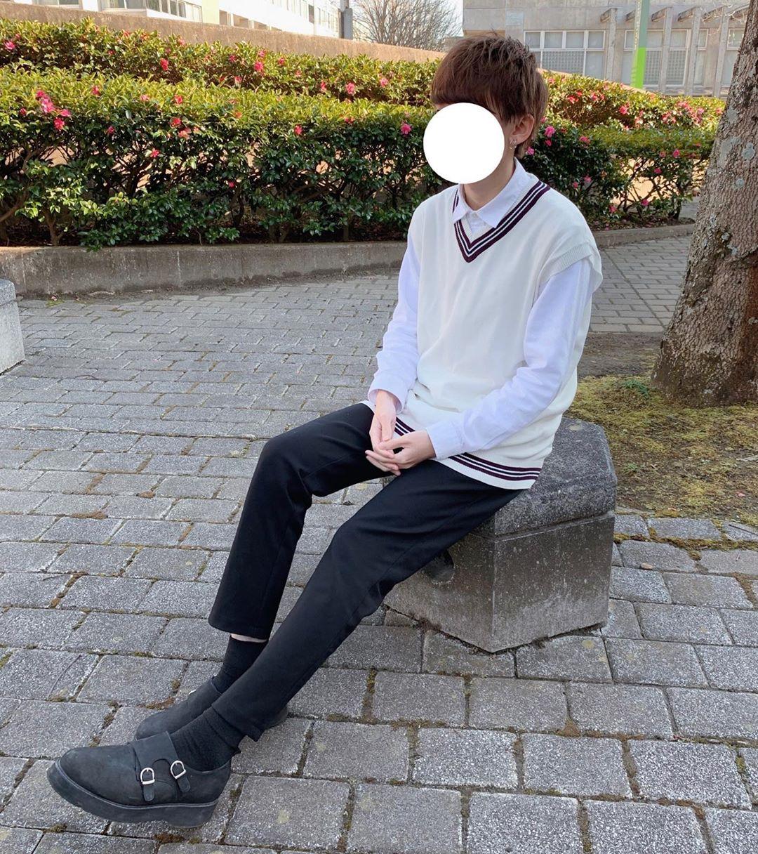 最高気温18度・最低気温7度 _fuku_990730の服装