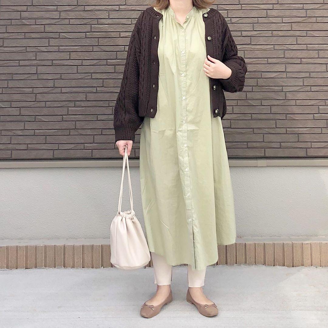 最高気温20度・最低気温10度 _mayu123_の服装