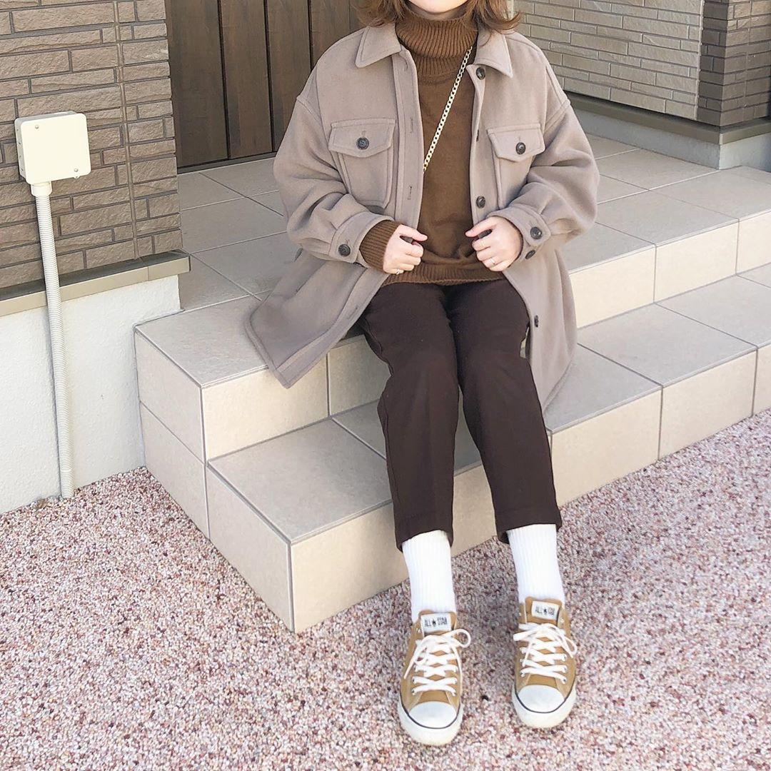 最高気温18度・最低気温8度 _mayu123_の服装