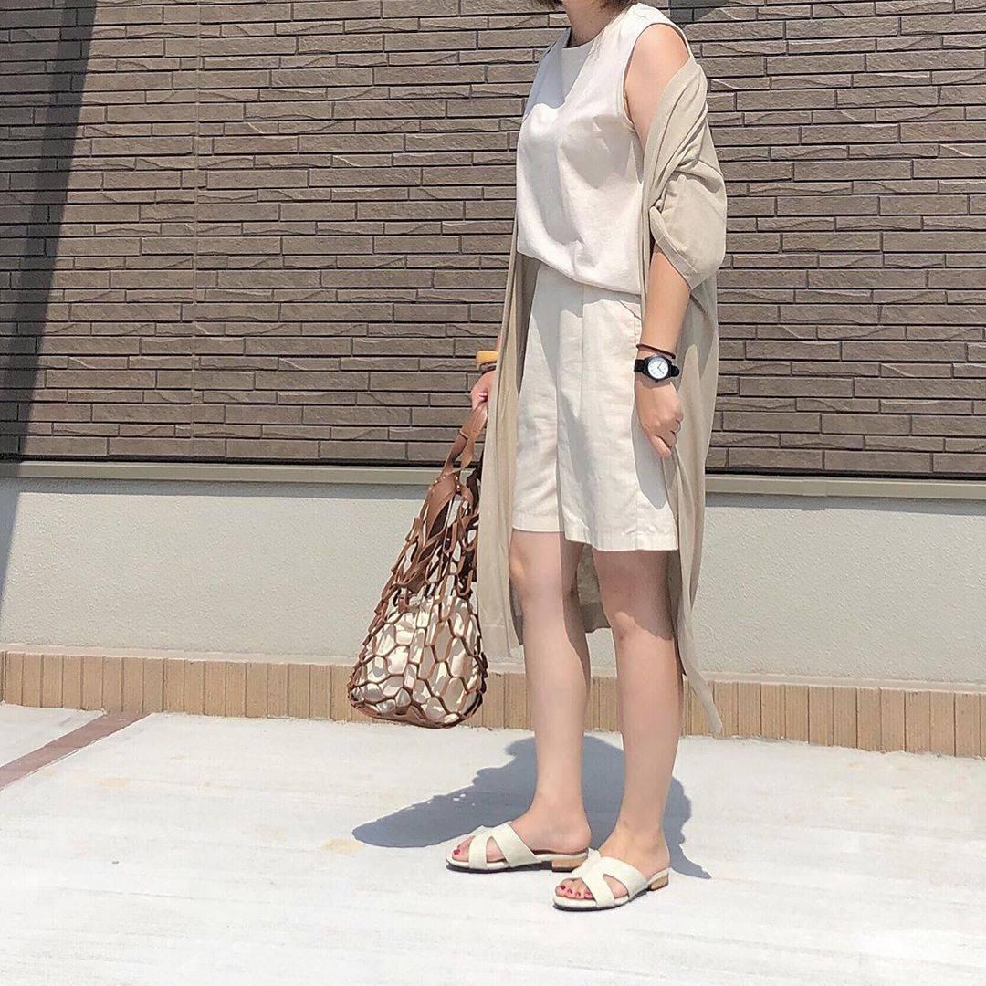 最高気温35度・最低気温26度 _mayu123_の服装