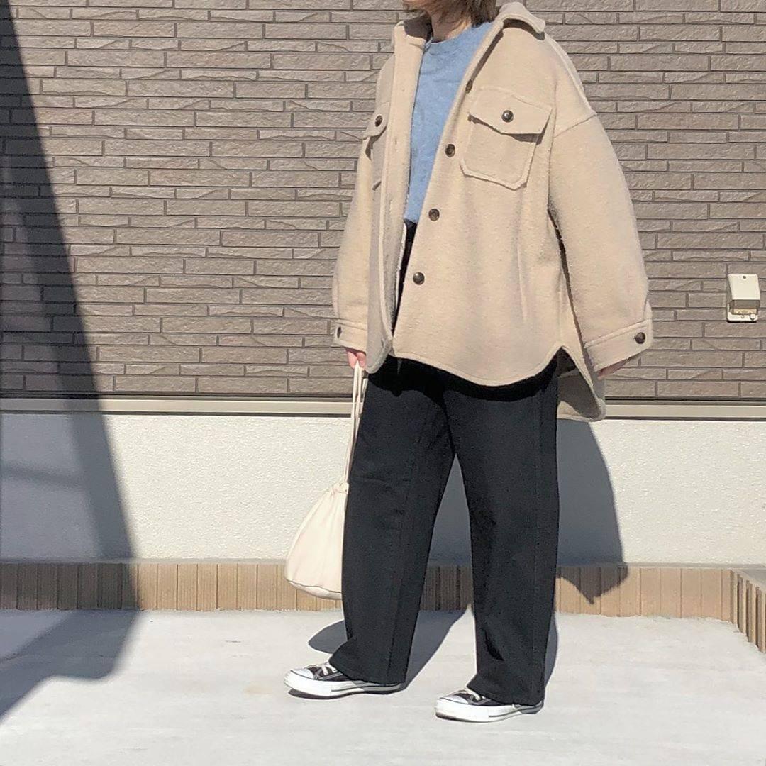 最高気温14度・最低気温5度 _mayu123_の服装