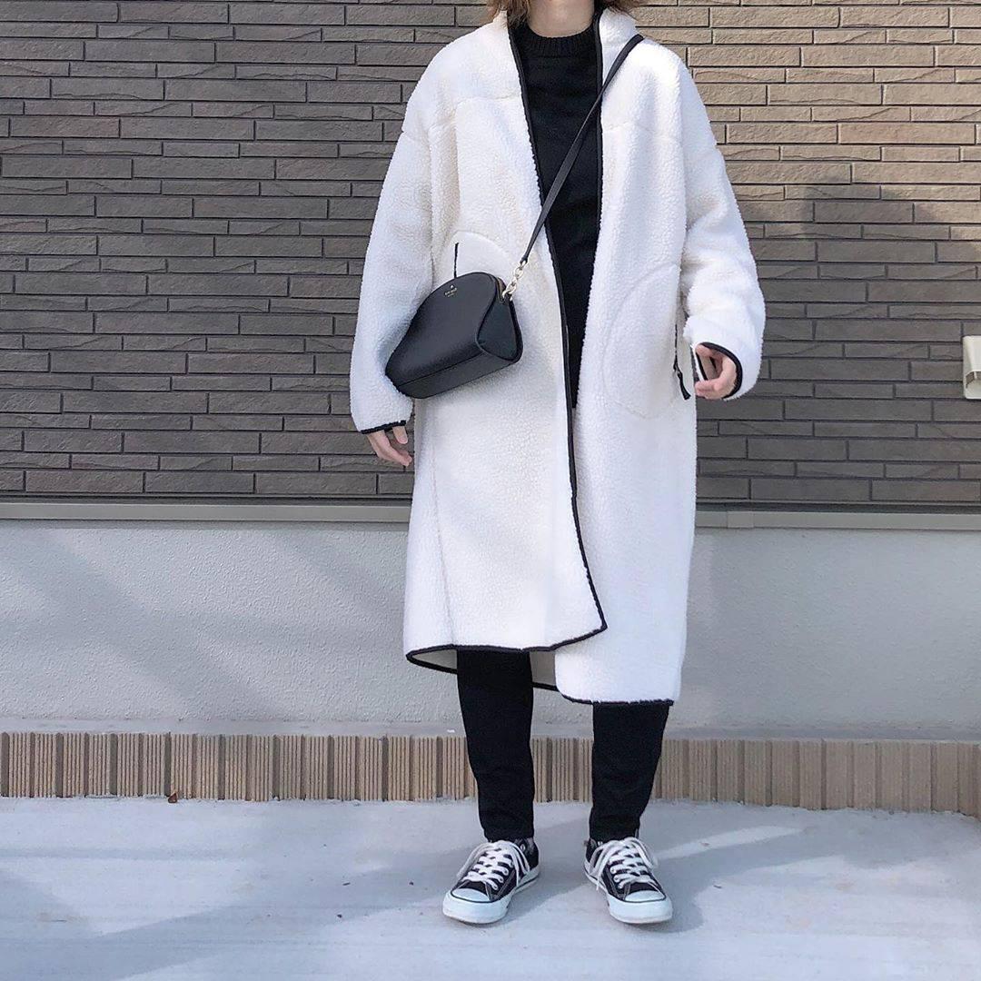最高気温7度・最低気温4度 _mayu123_の服装