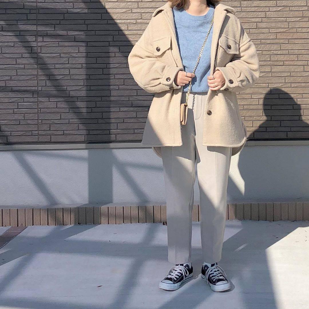 最高気温10度・最低気温2度 _mayu123_の服装
