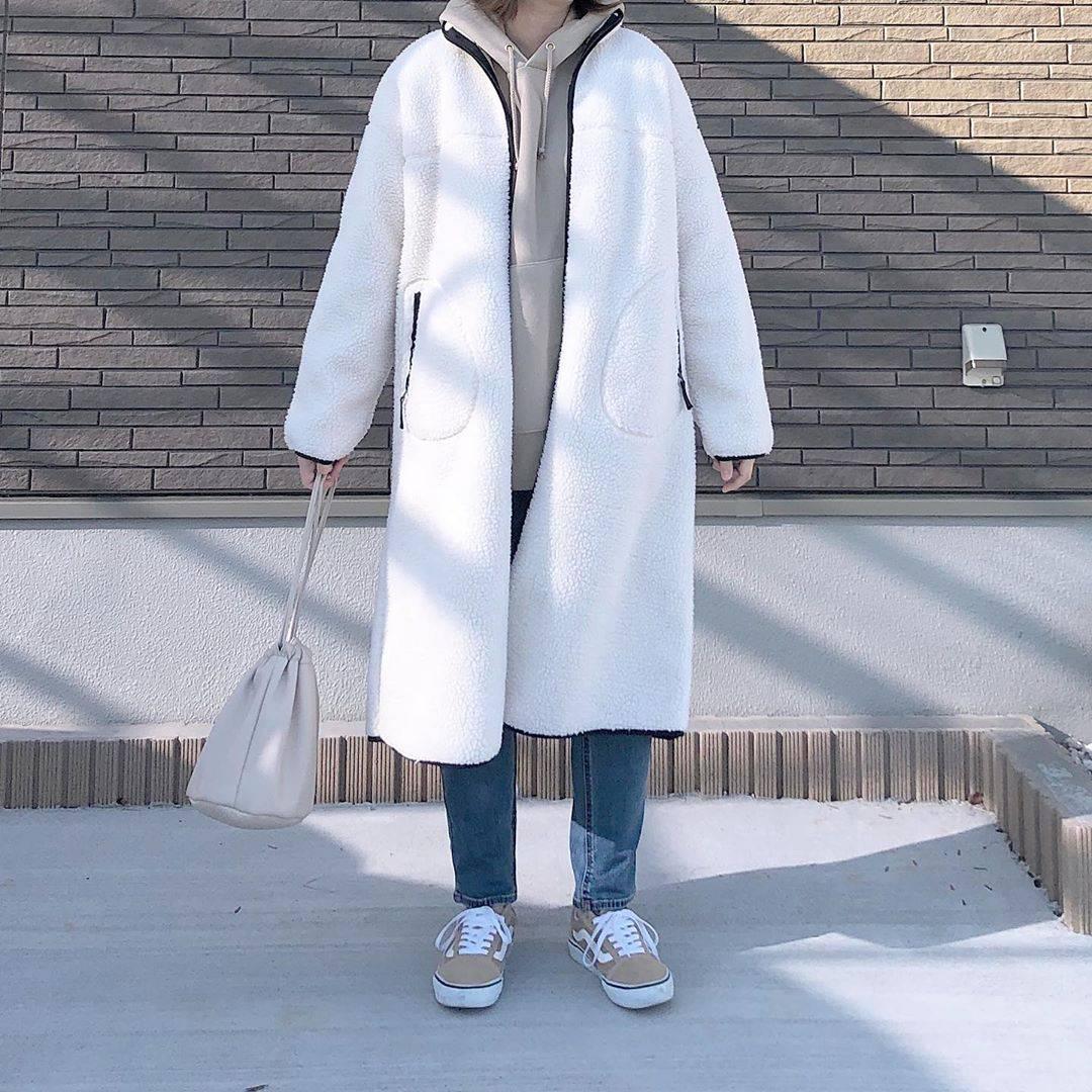 最高気温16度・最低気温3度 _mayu123_の服装