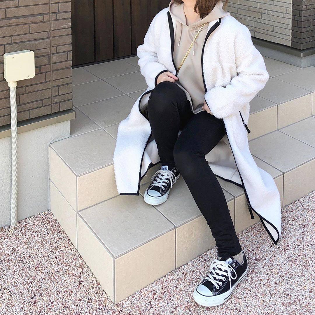 最高気温13度・最低気温5度 _mayu123_の服装