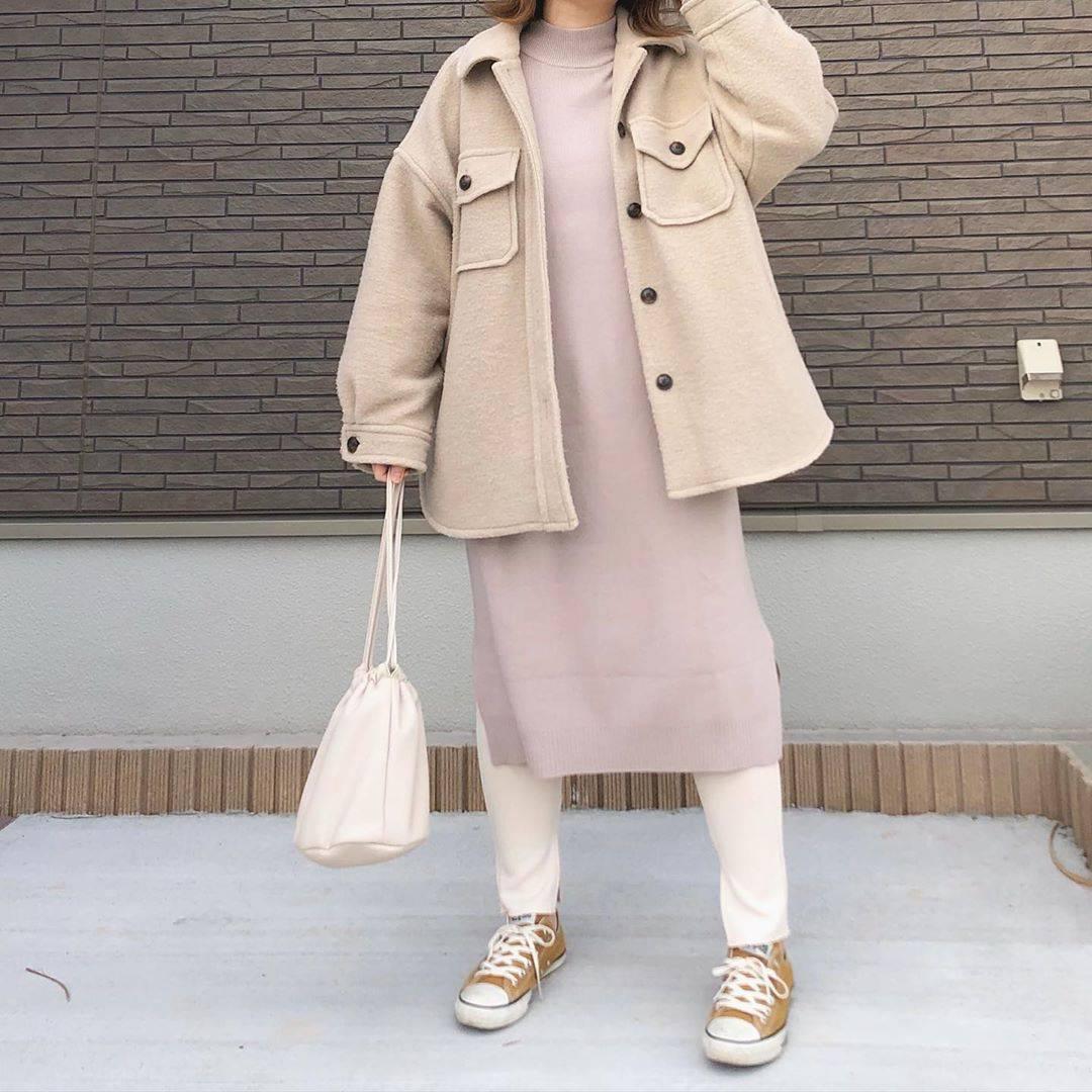 最高気温11度・最低気温4度 _mayu123_の服装