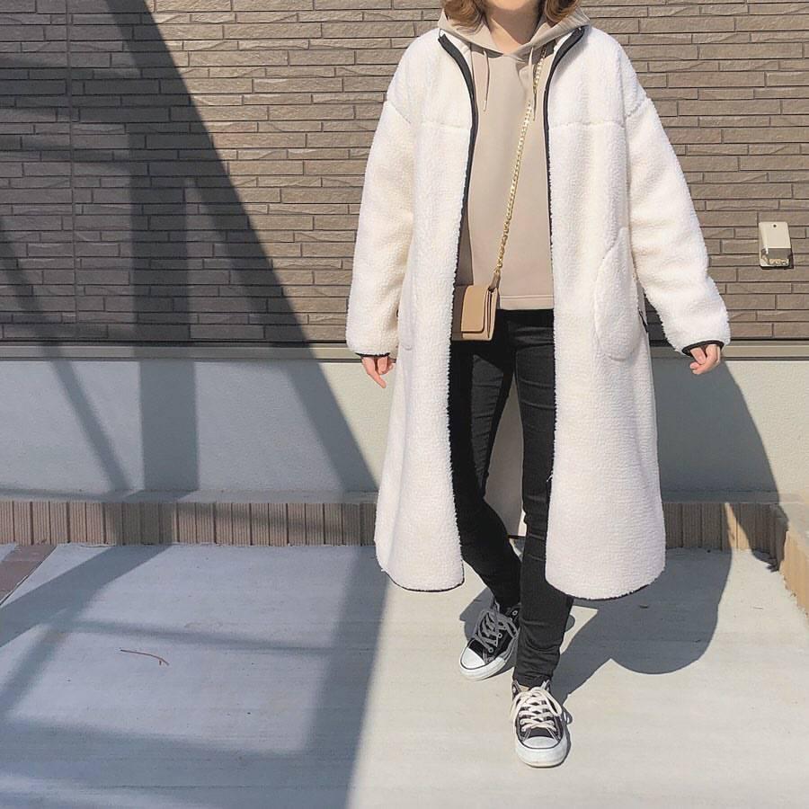 最高気温6度・最低気温0度 _mayu123_の服装