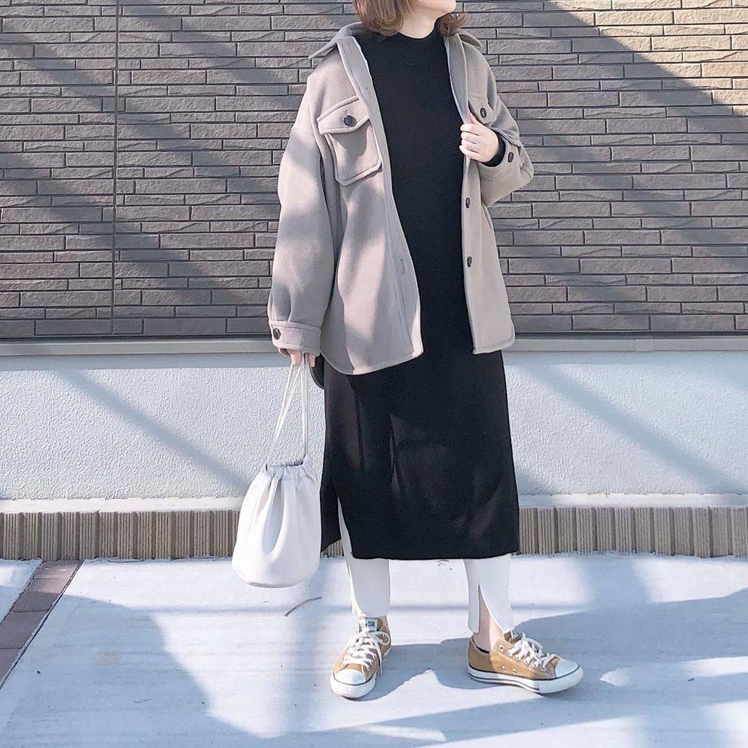 最高気温12度・最低気温0度 _mayu123_の服装