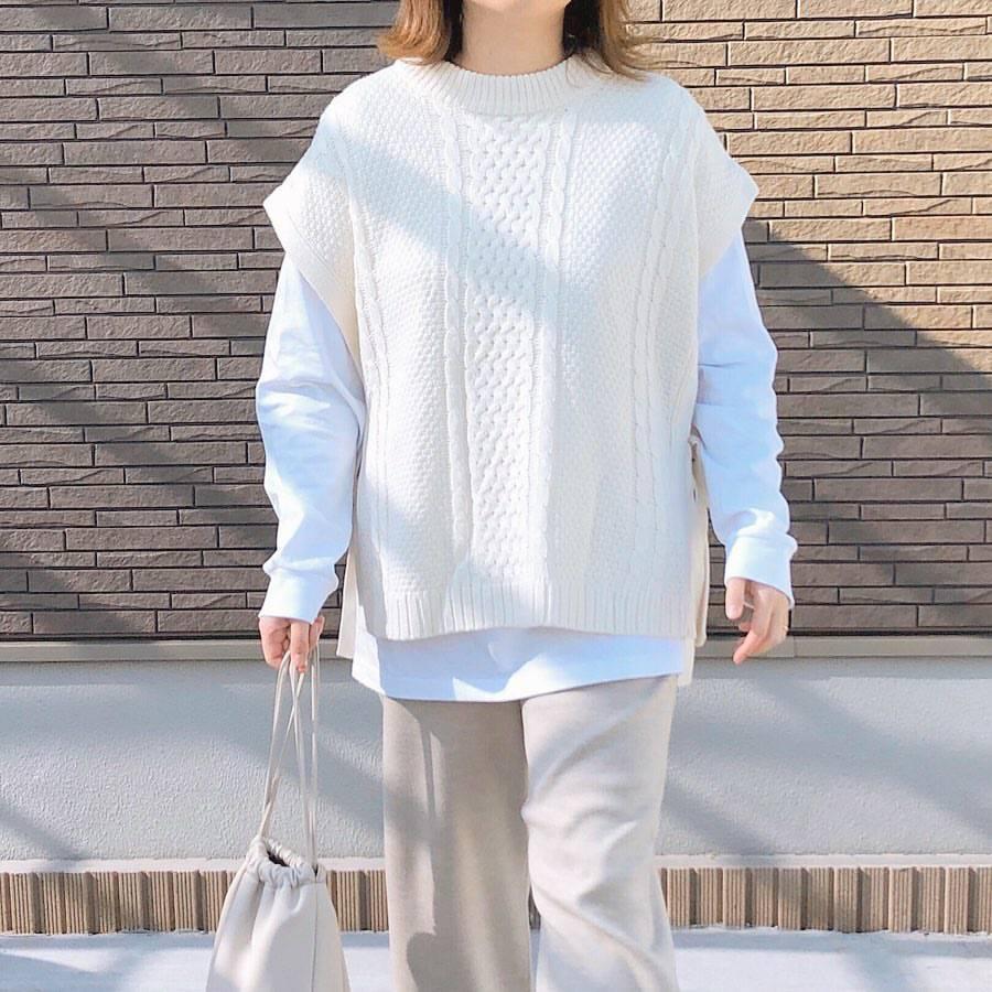 最高気温18度・最低気温7度 _mayu123_の服装