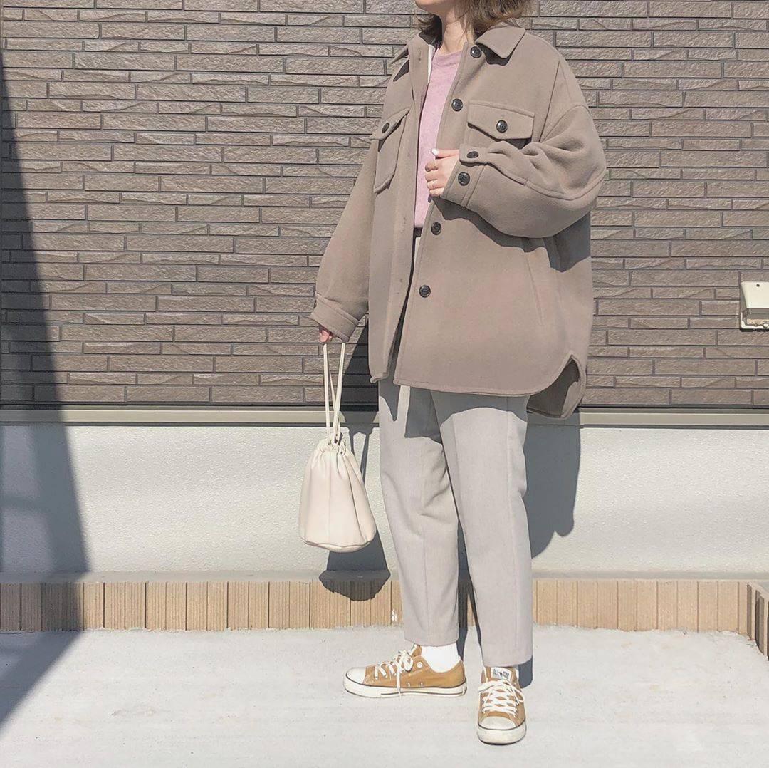 最高気温16度・最低気温5度 _mayu123_の服装