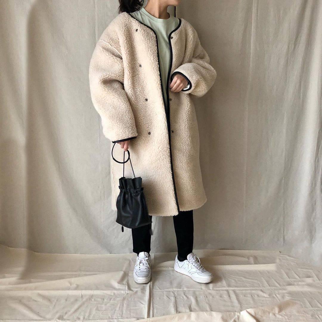 最高気温9度・最低気温6度 a.__yaの服装
