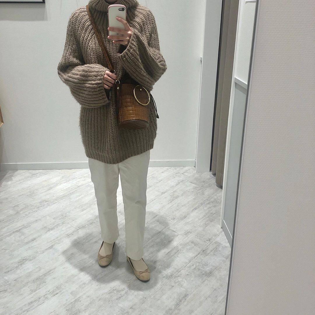 最高気温14度・最低気温4度 a.__yaの服装