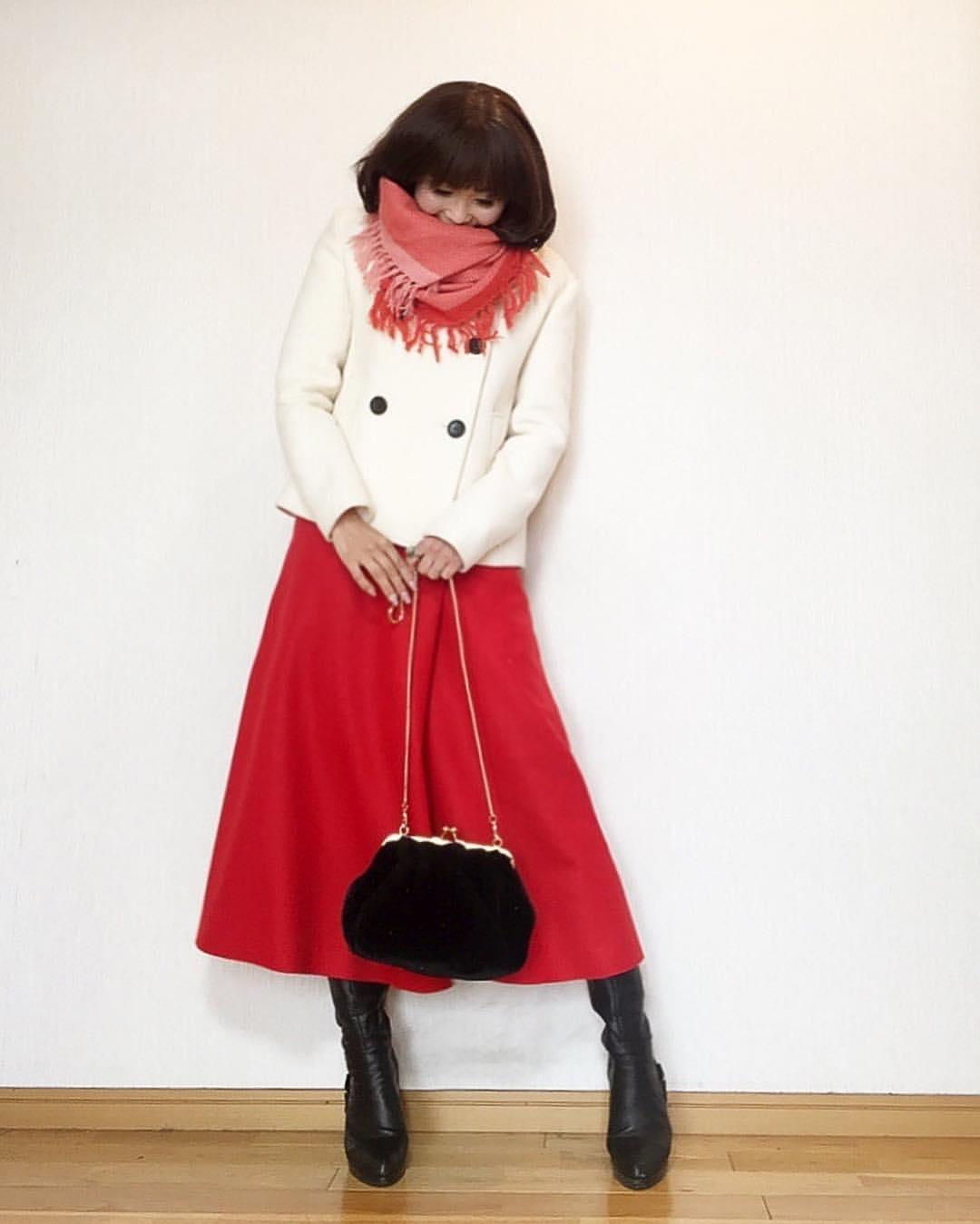 最高気温10度・最低気温2度 acmee.chiyoの服装