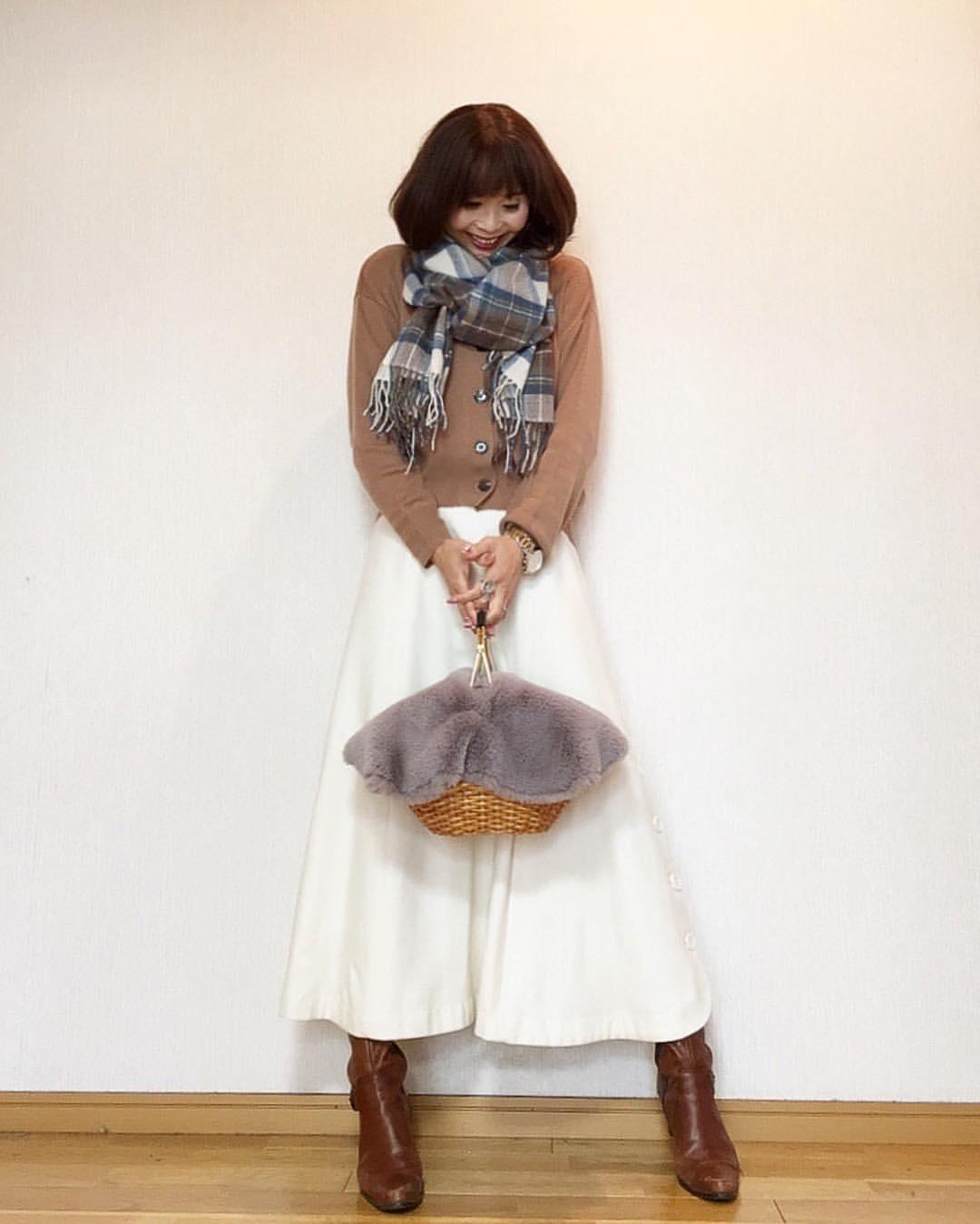 最高気温14度・最低気温0度 acmee.chiyoの服装