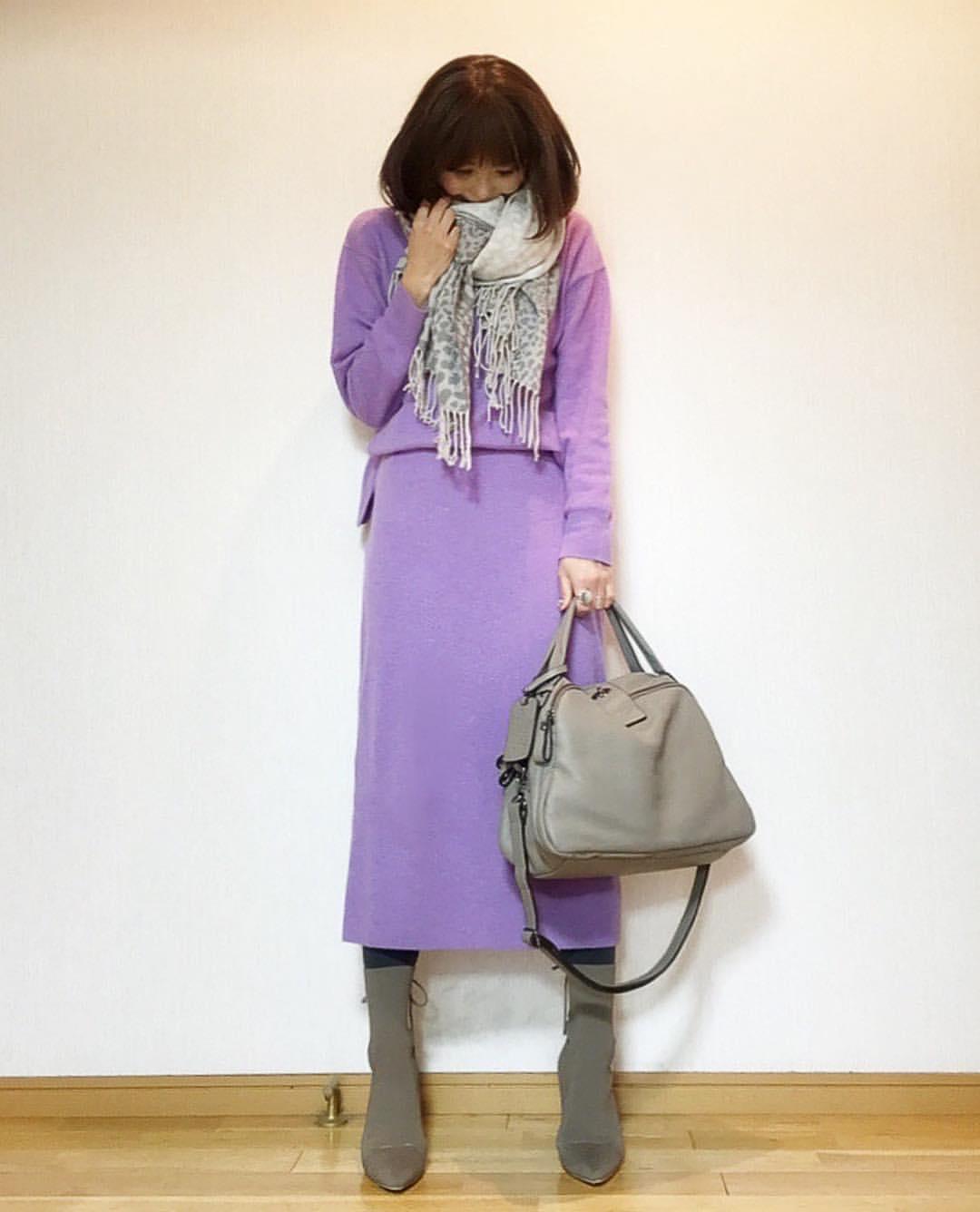 最高気温12度・最低気温0度 acmee.chiyoの服装