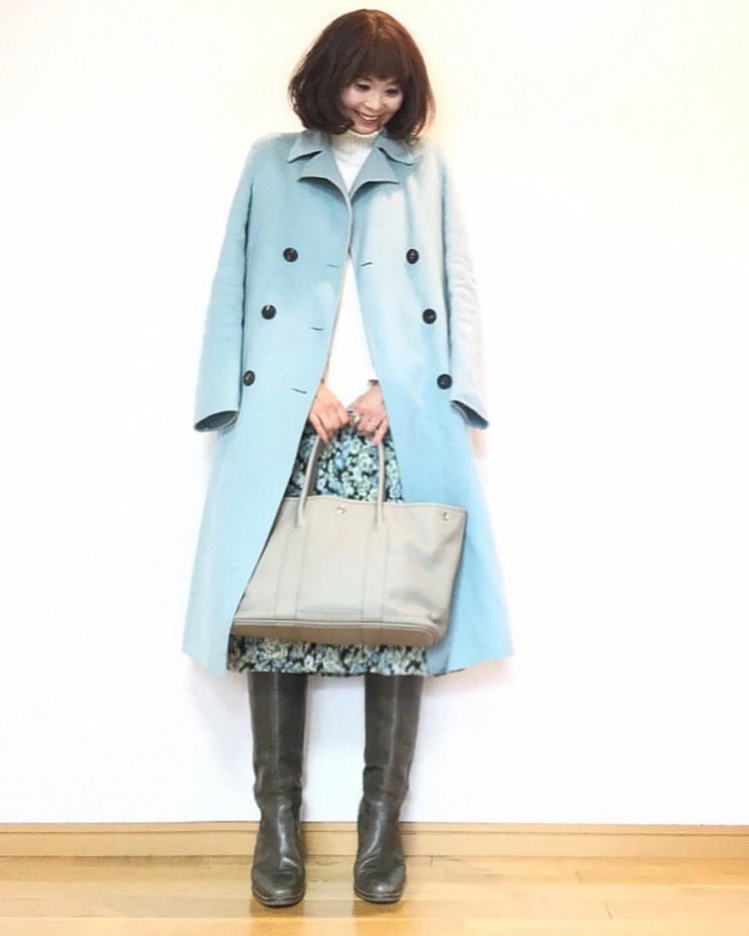 最高気温9度・最低気温1度 acmee.chiyoの服装