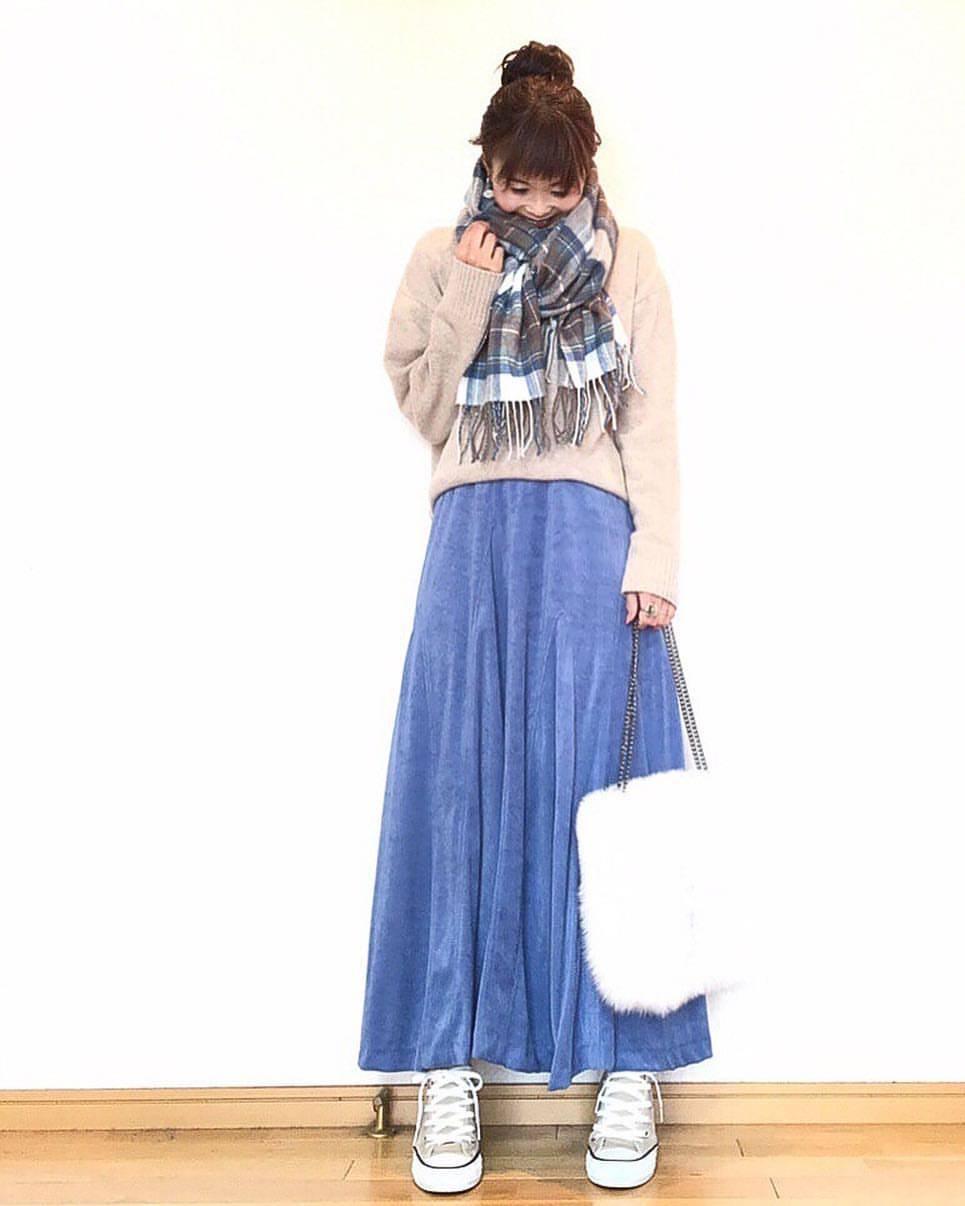 最高気温19度・最低気温6度 acmee.chiyoの服装