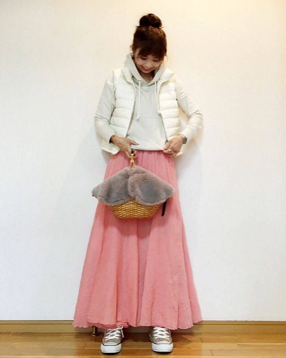 最高気温14度・最低気温2度 acmee.chiyoの服装