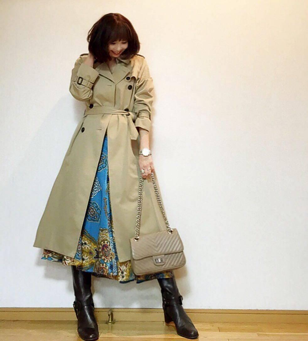 最高気温13度・最低気温6度 acmee.chiyoの服装