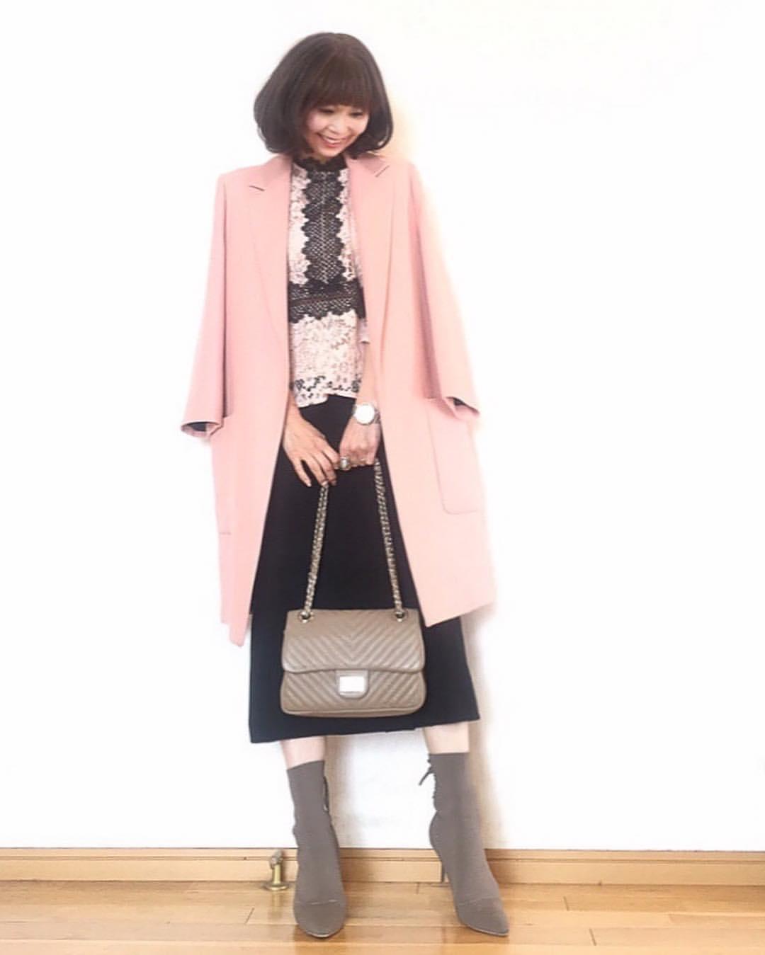 最高気温12度・最低気温3度 acmee.chiyoの服装