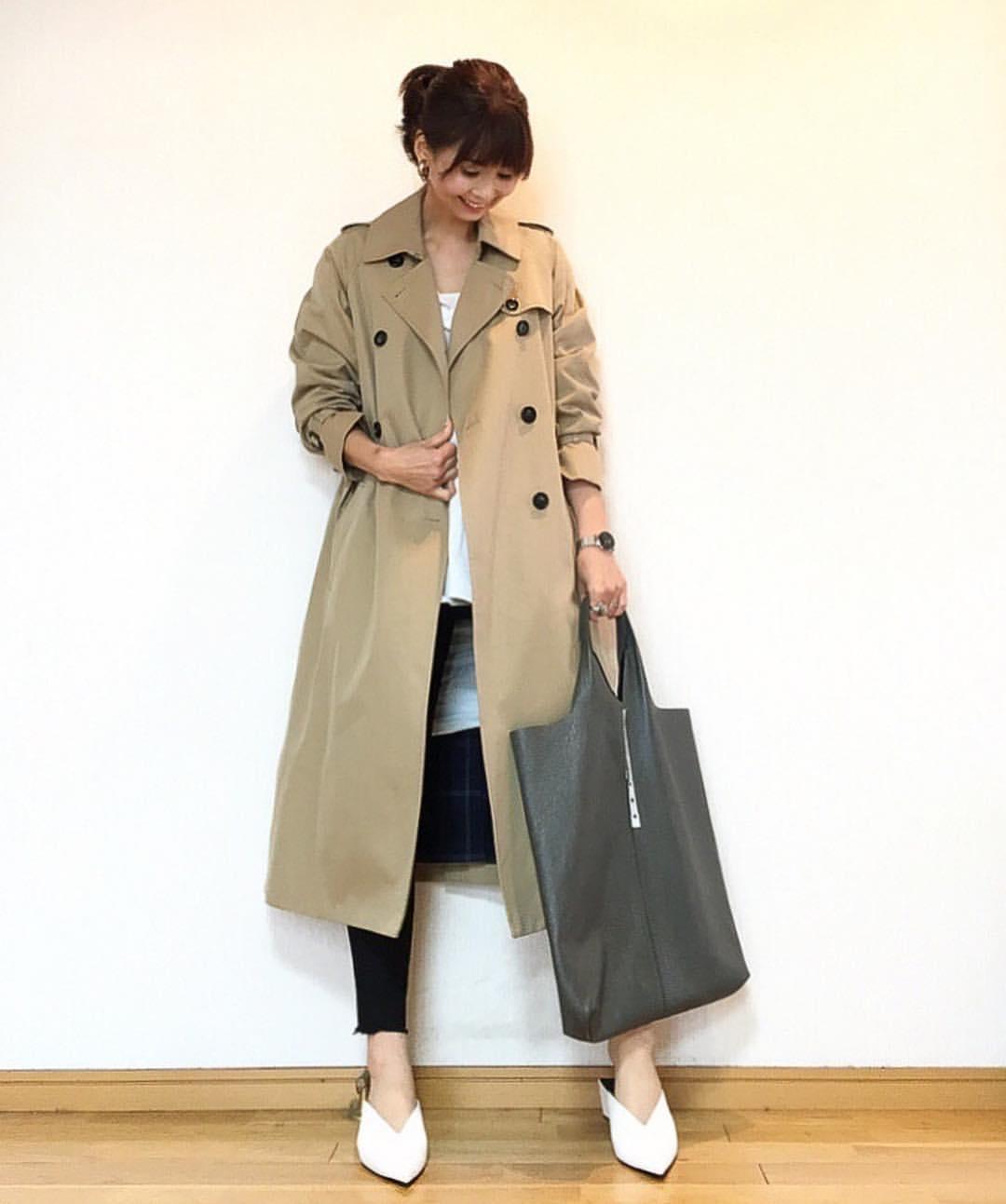 最高気温17度・最低気温8度 acmee.chiyoの服装