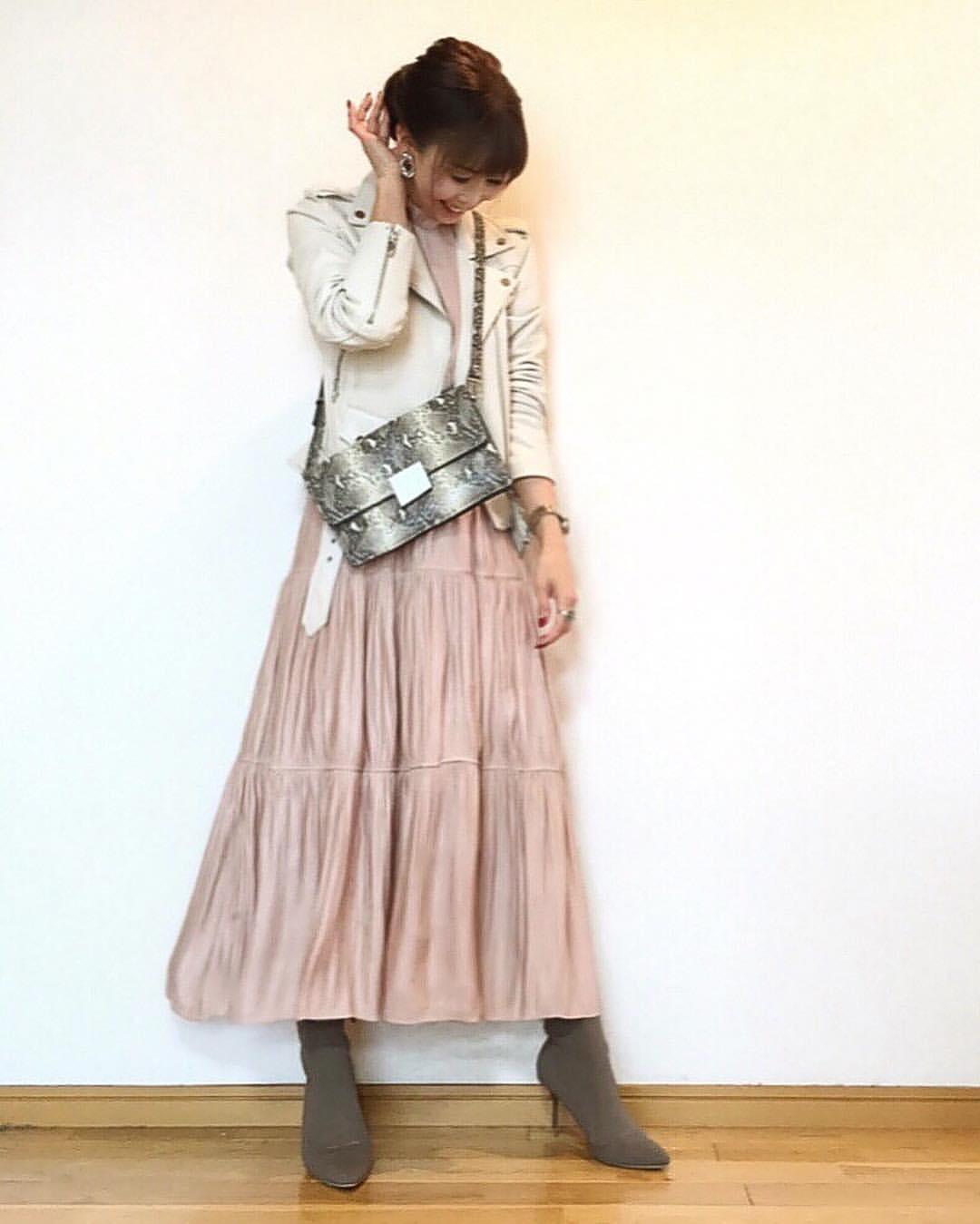 最高気温16度・最低気温3度 acmee.chiyoの服装
