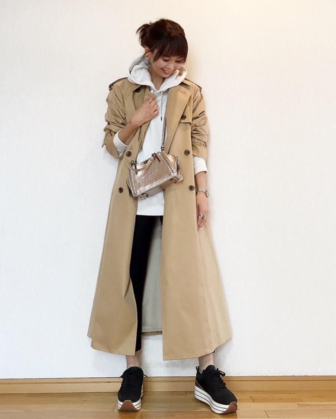 最高気温21度・最低気温10度 acmee.chiyoの服装