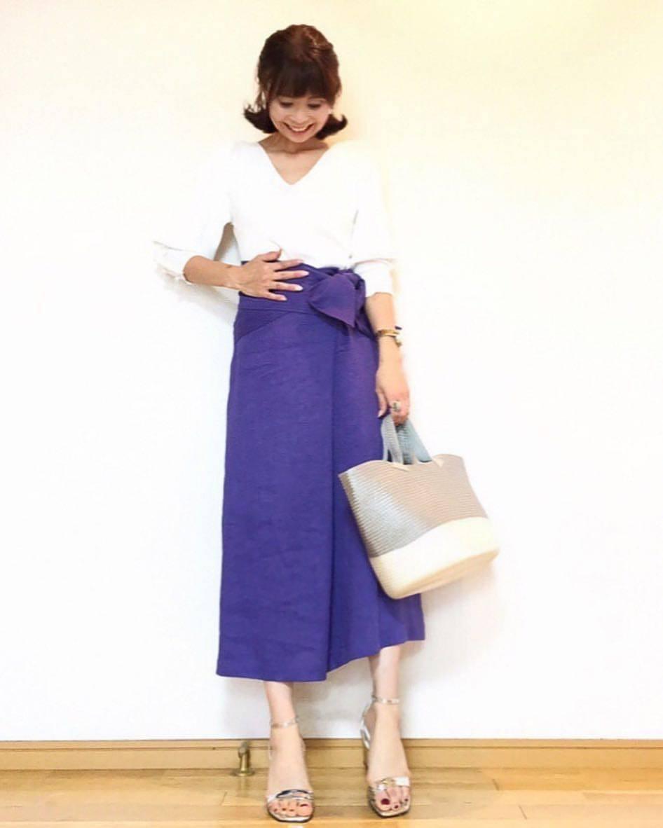 最高気温25度・最低気温14度 acmee.chiyoの服装