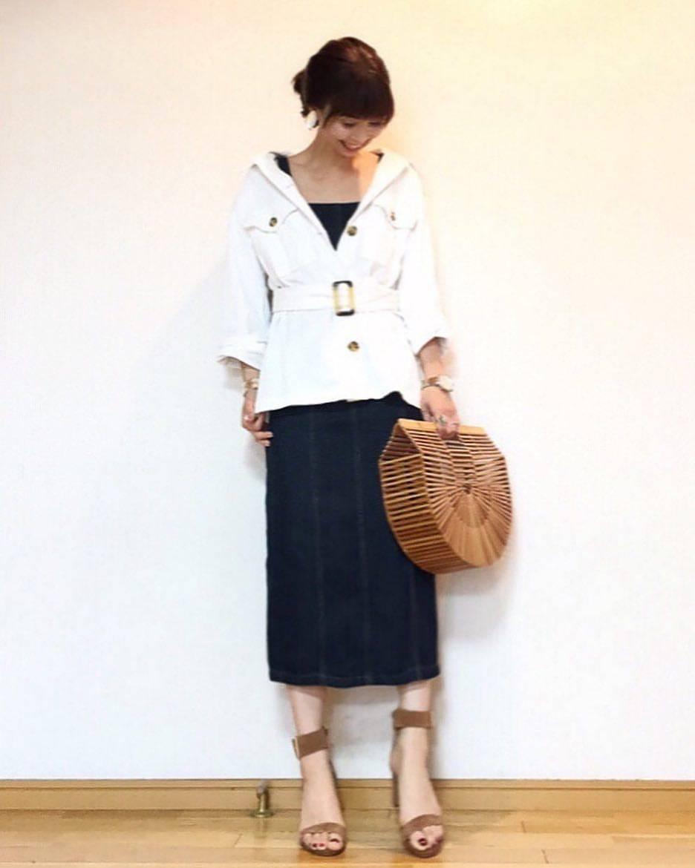 最高気温23度・最低気温14度 acmee.chiyoの服装