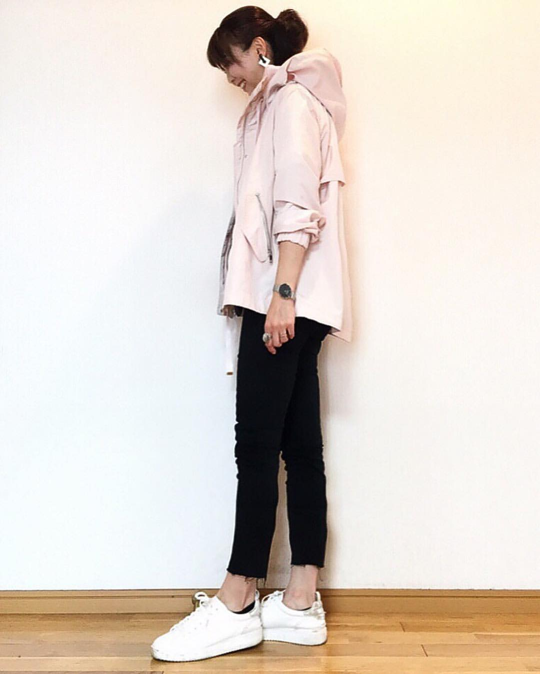 最高気温22度・最低気温15度 acmee.chiyoの服装