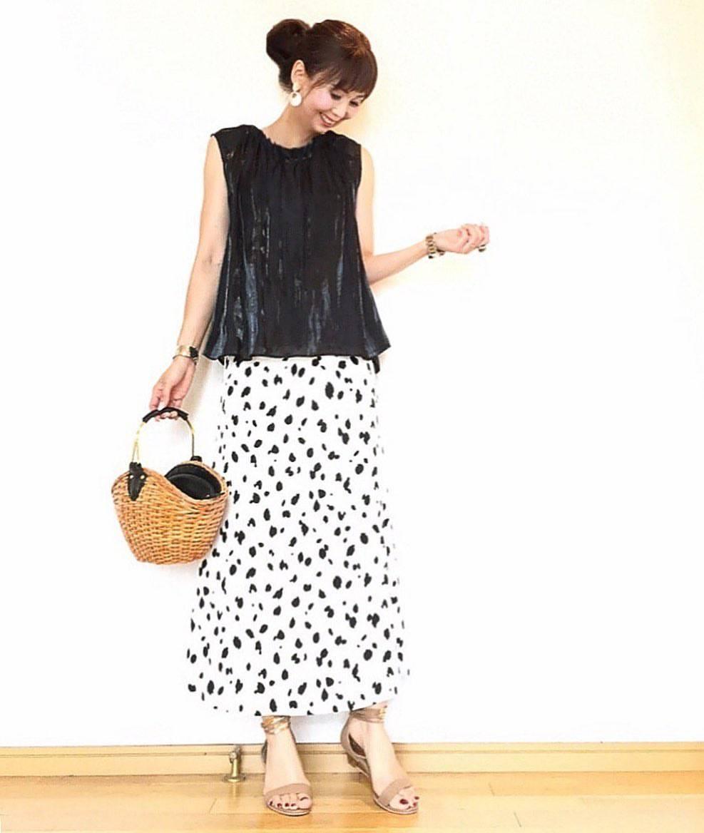 最高気温29度・最低気温24度 acmee.chiyoの服装
