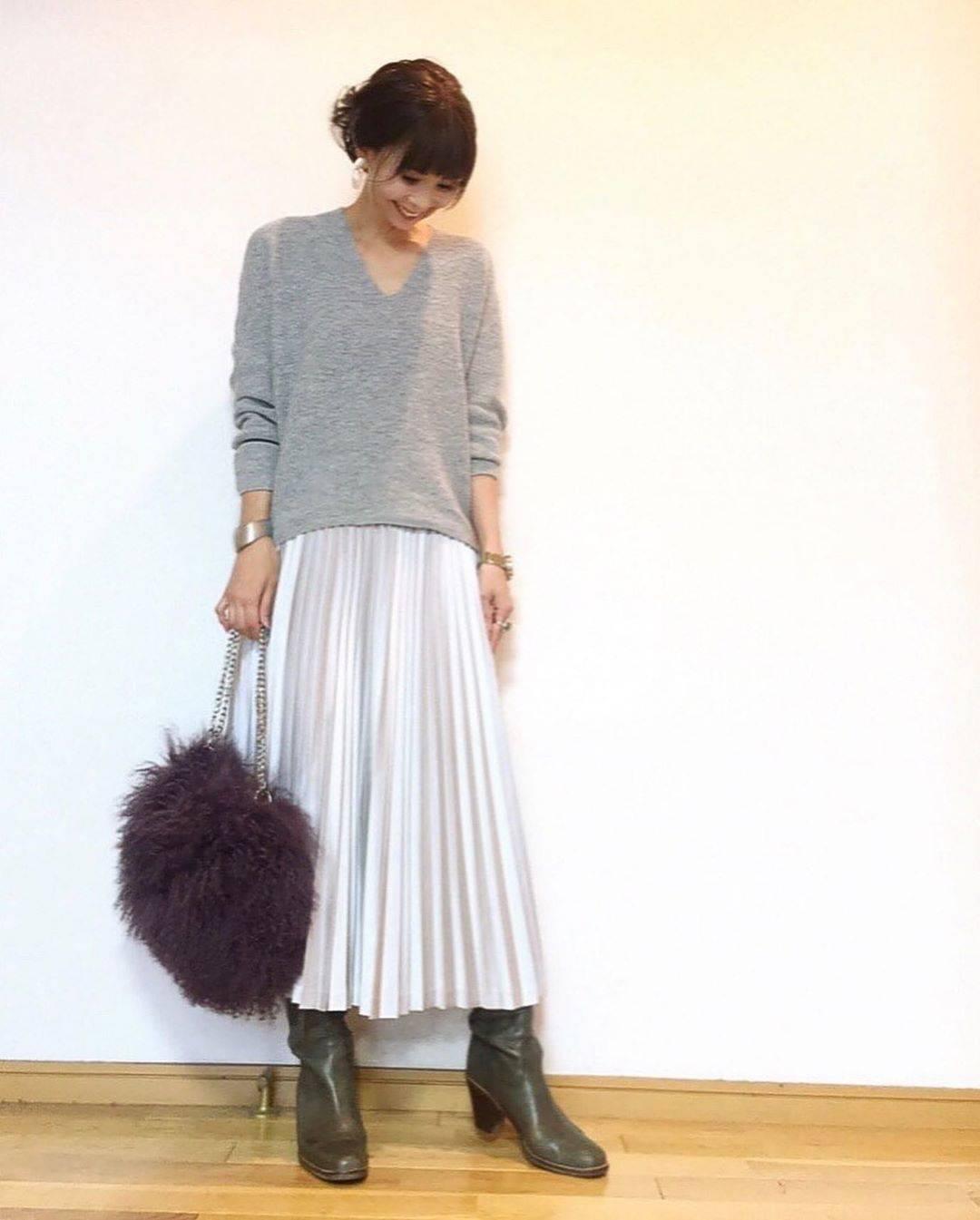 最高気温19度・最低気温10度 acmee.chiyoの服装