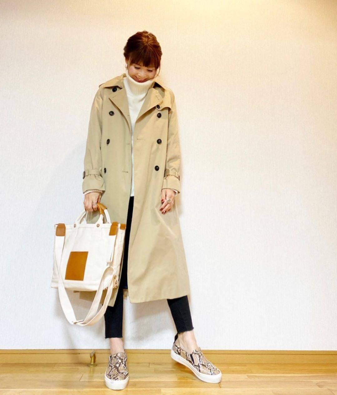 最高気温13度・最低気温9度 acmee.chiyoの服装