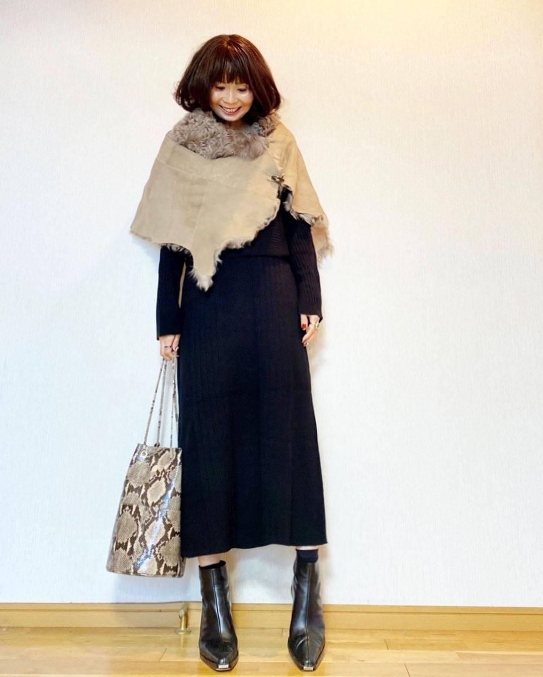 最高気温14度・最低気温5度 acmee.chiyoの服装