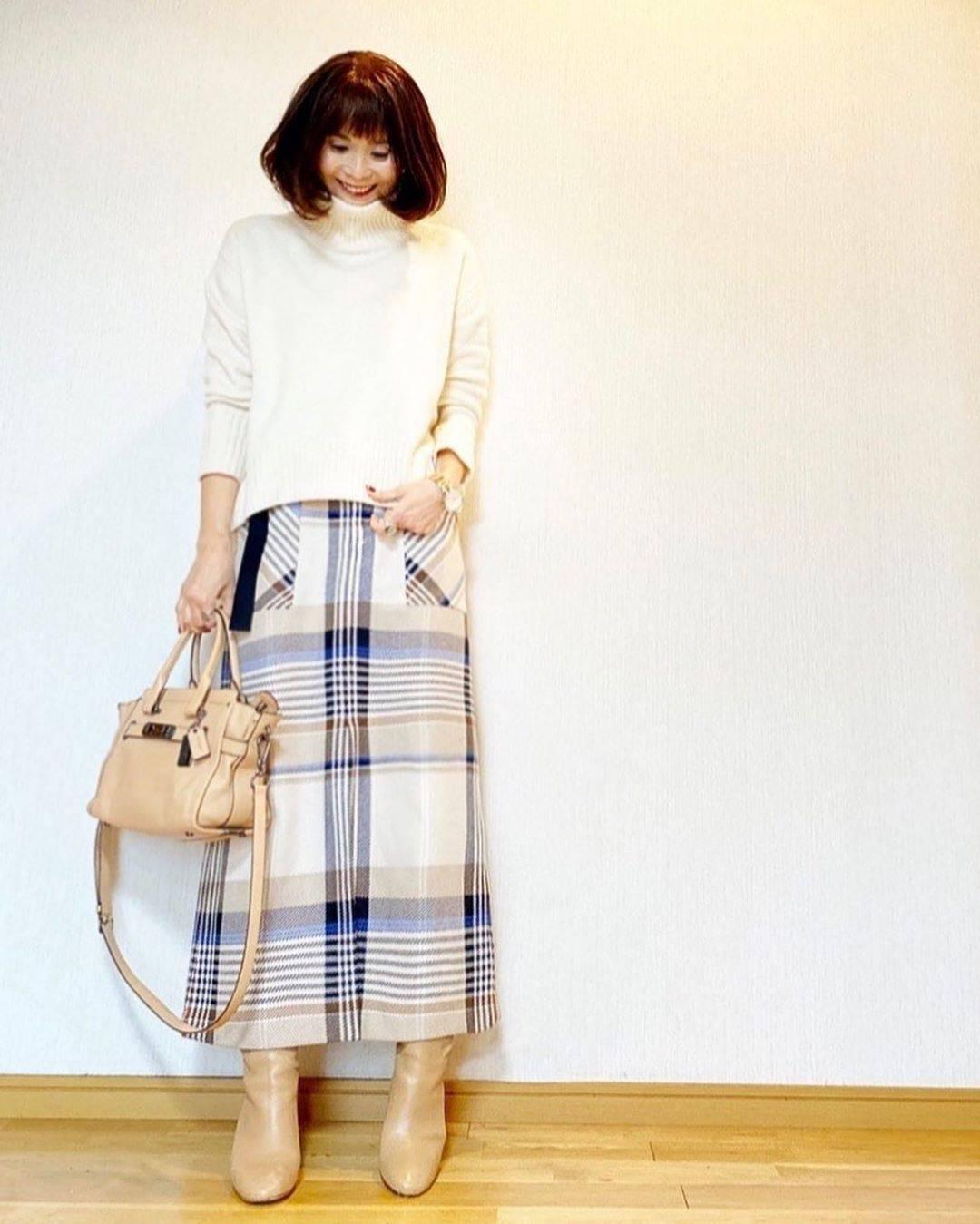 最高気温16度・最低気温6度 acmee.chiyoの服装