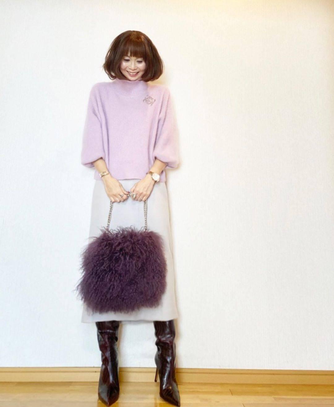最高気温11度・最低気温1度 acmee.chiyoの服装