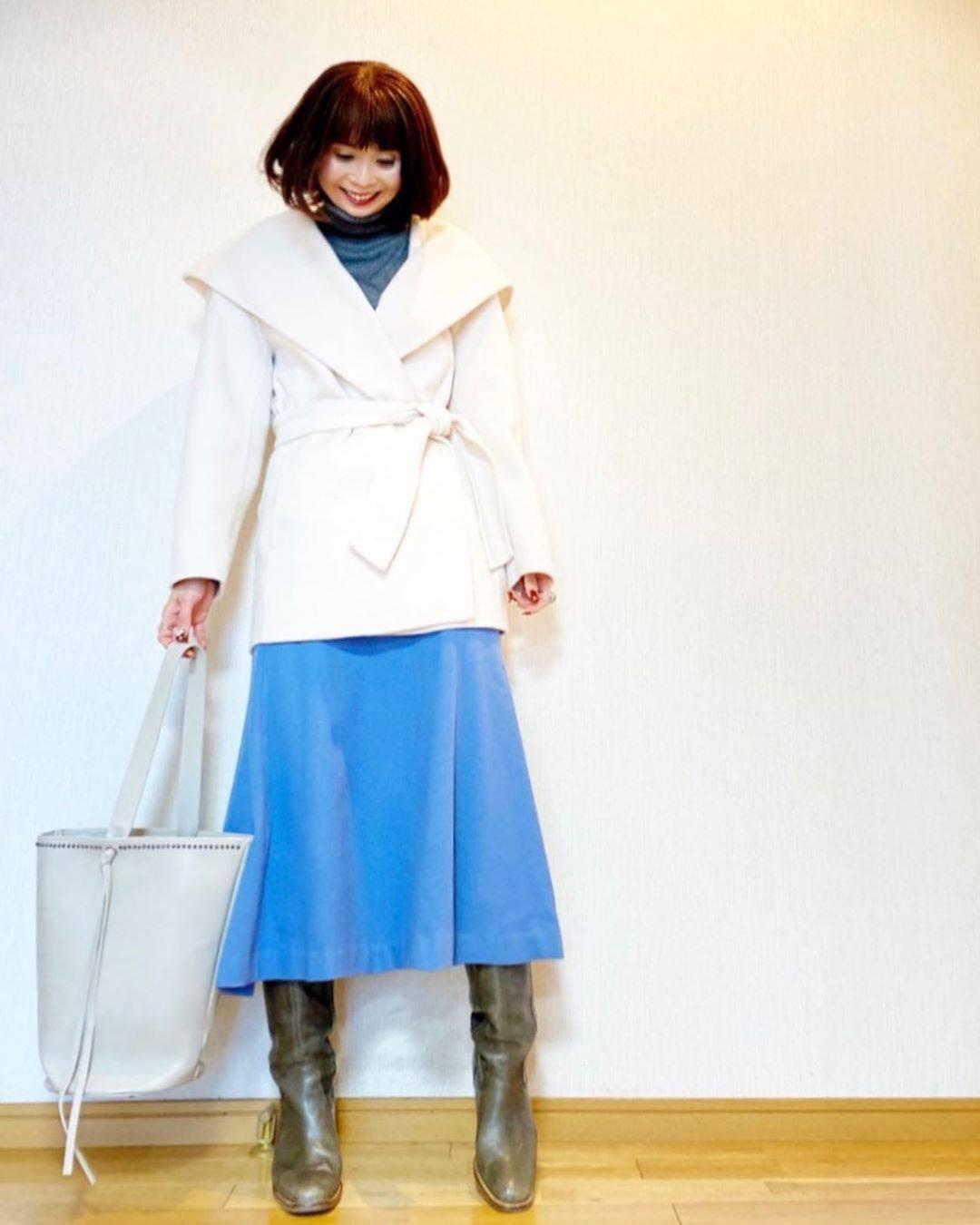 最高気温8度・最低気温3度 acmee.chiyoの服装