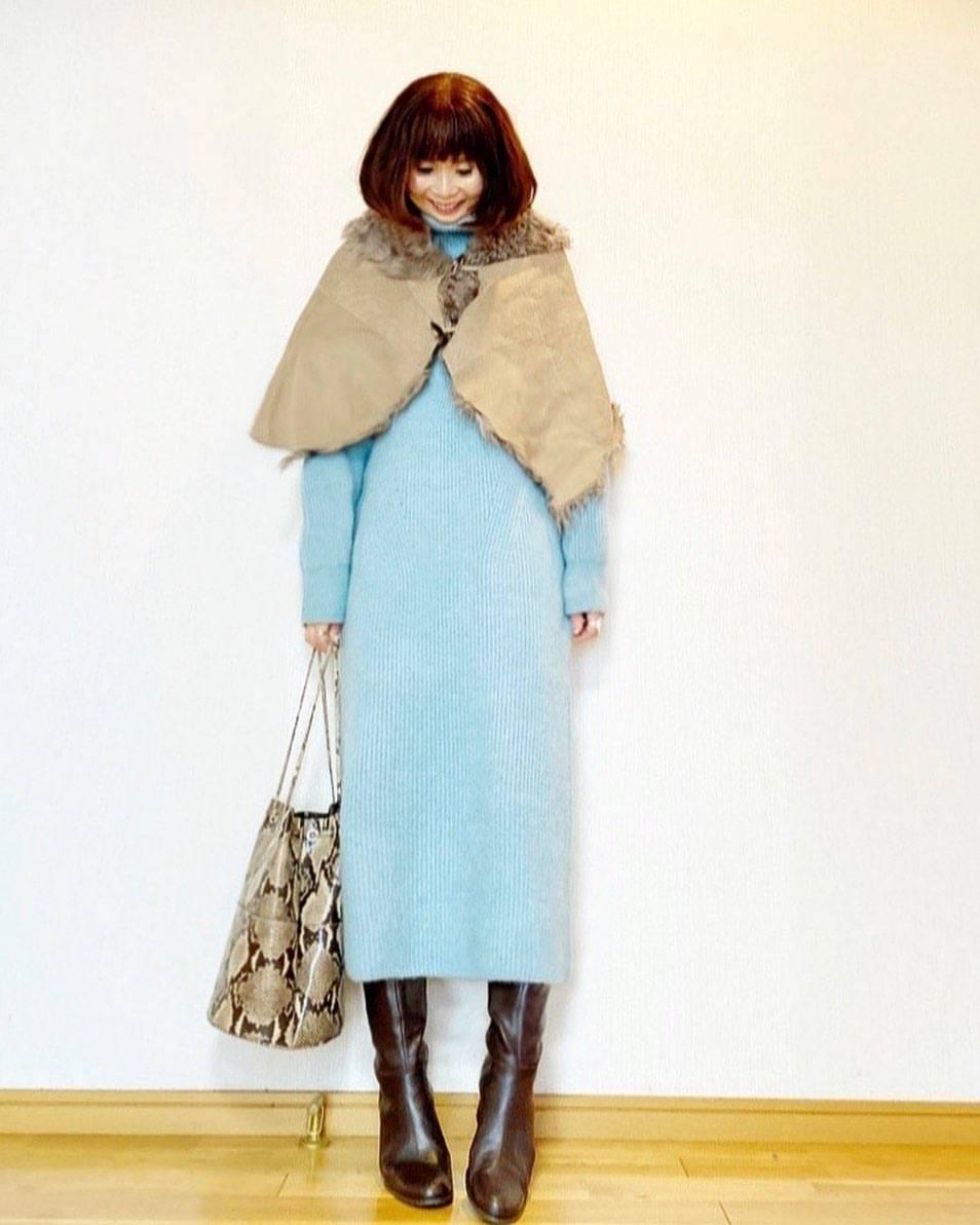 最高気温7度・最低気温2度 acmee.chiyoの服装