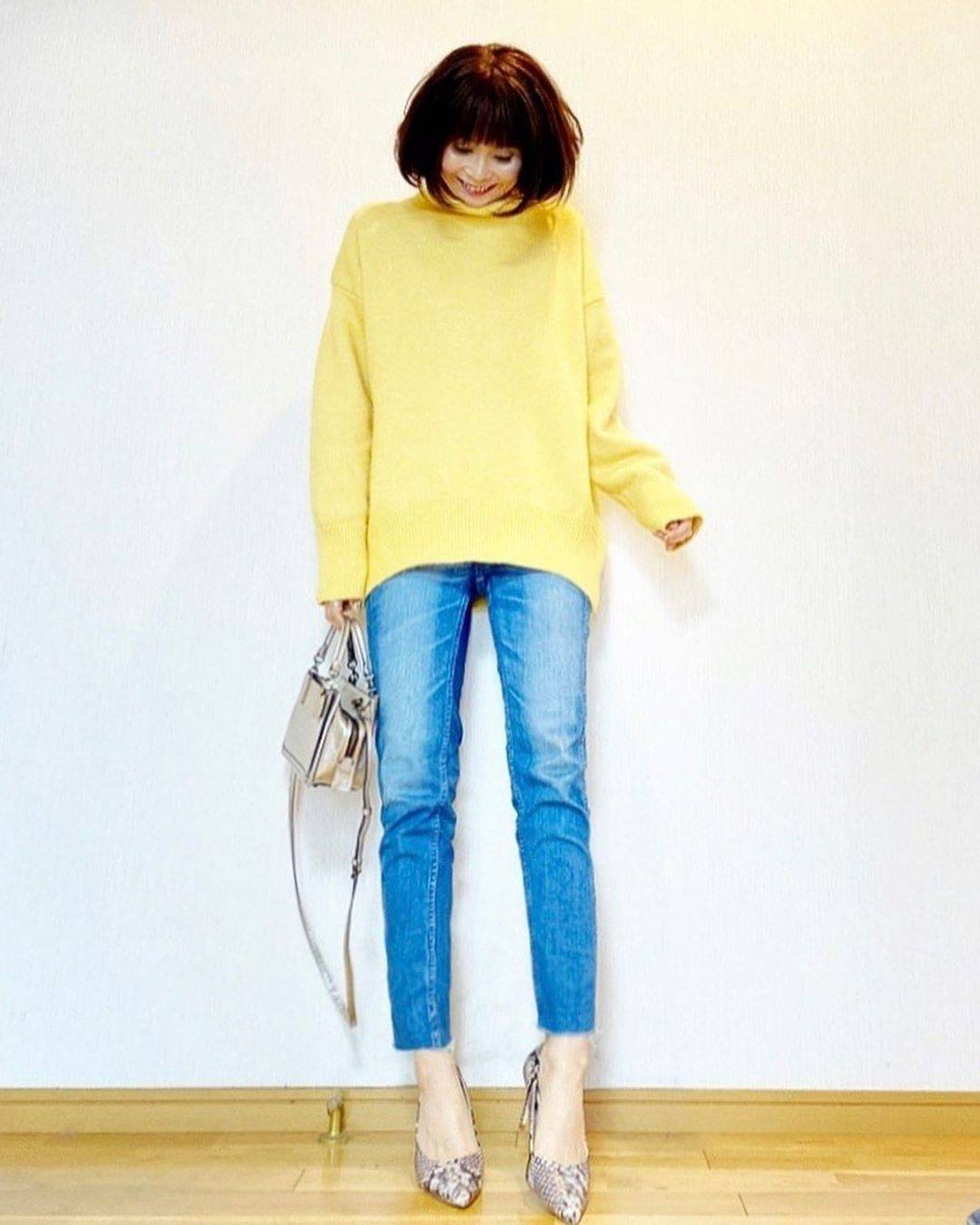 最高気温6度・最低気温2度 acmee.chiyoの服装