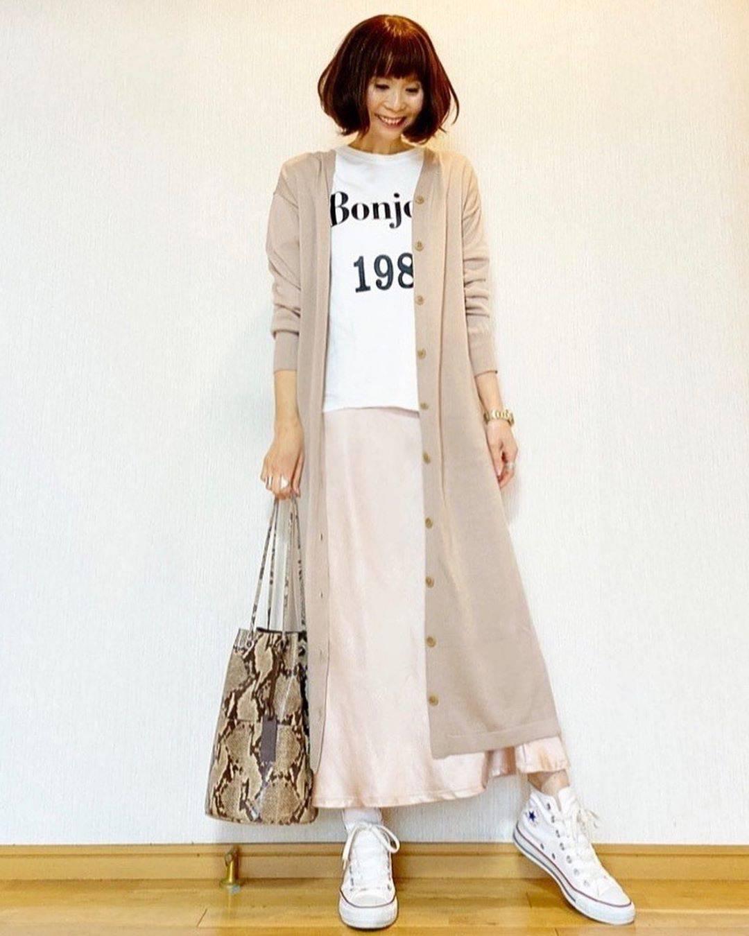 最高気温17度・最低気温6度 acmee.chiyoの服装