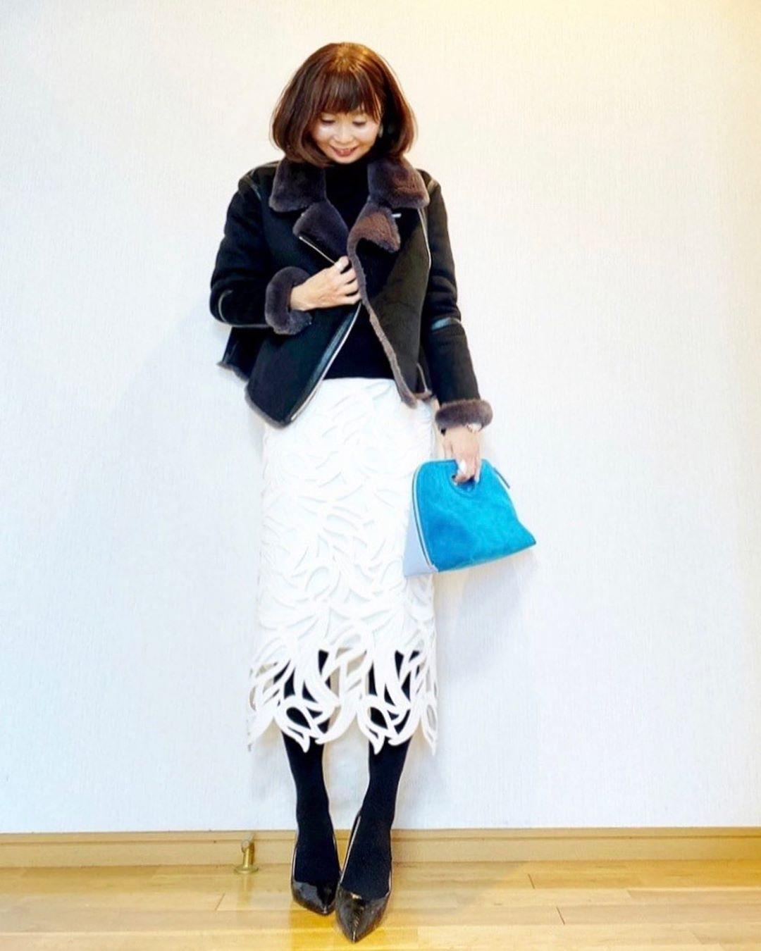 最高気温10度・最低気温0度 acmee.chiyoの服装