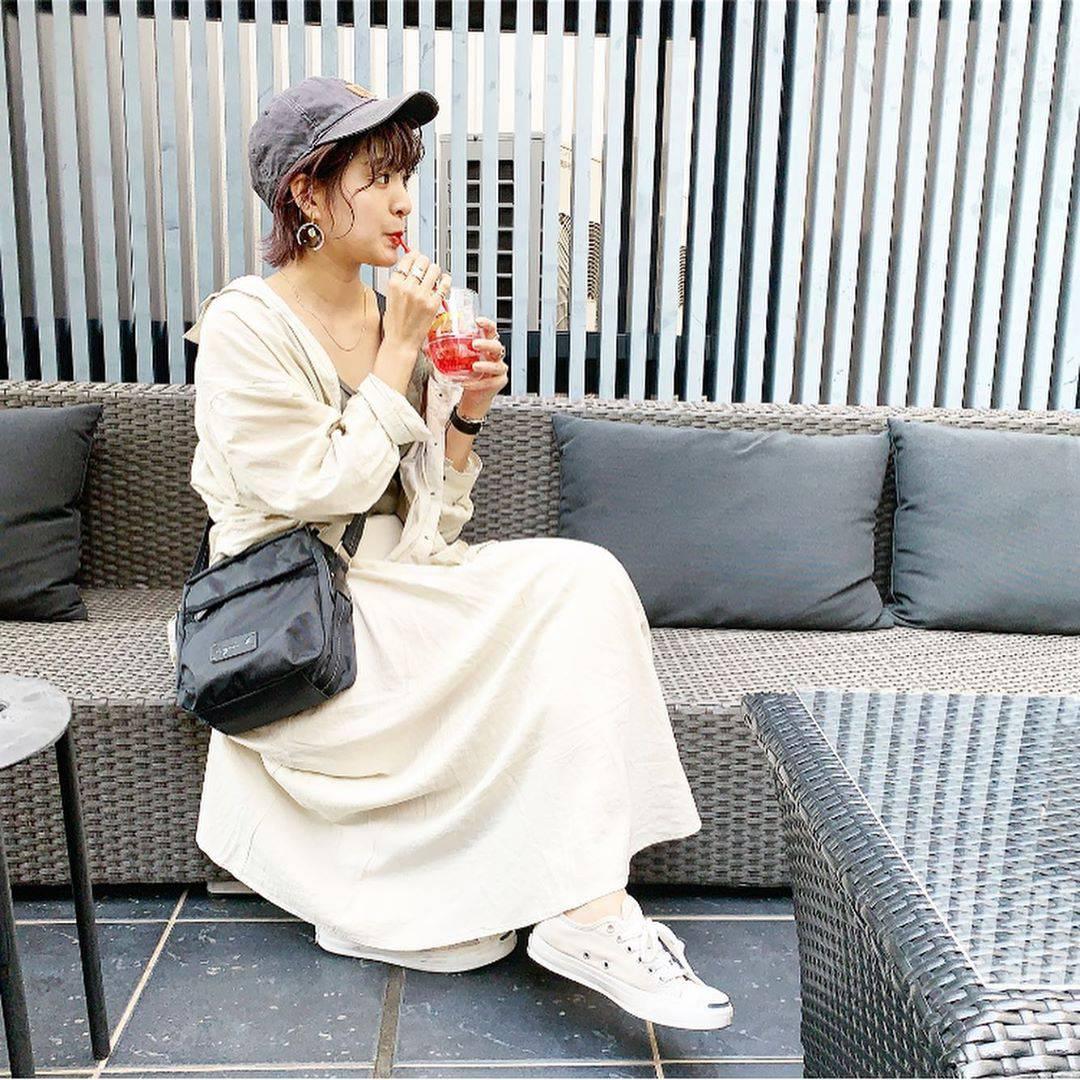 最高気温28度・最低気温20度 aikachaaanの服装