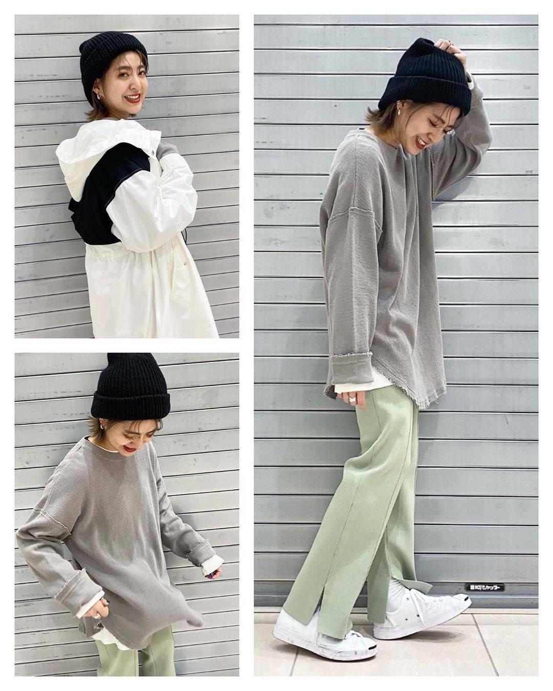 最高気温7度・最低気温0度 aikachaaanの服装