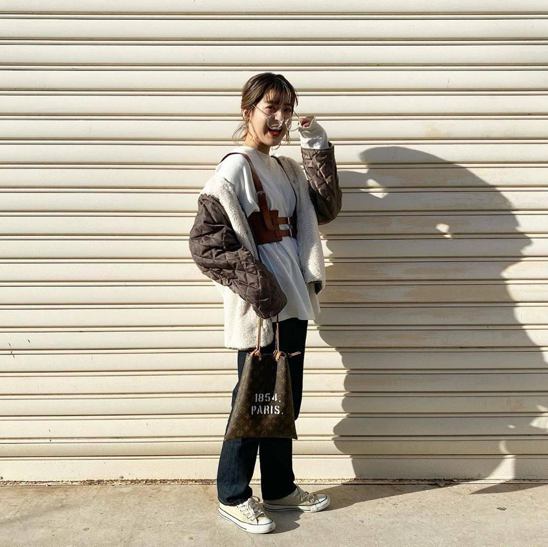 最高気温11度・最低気温3度 aikachaaanの服装