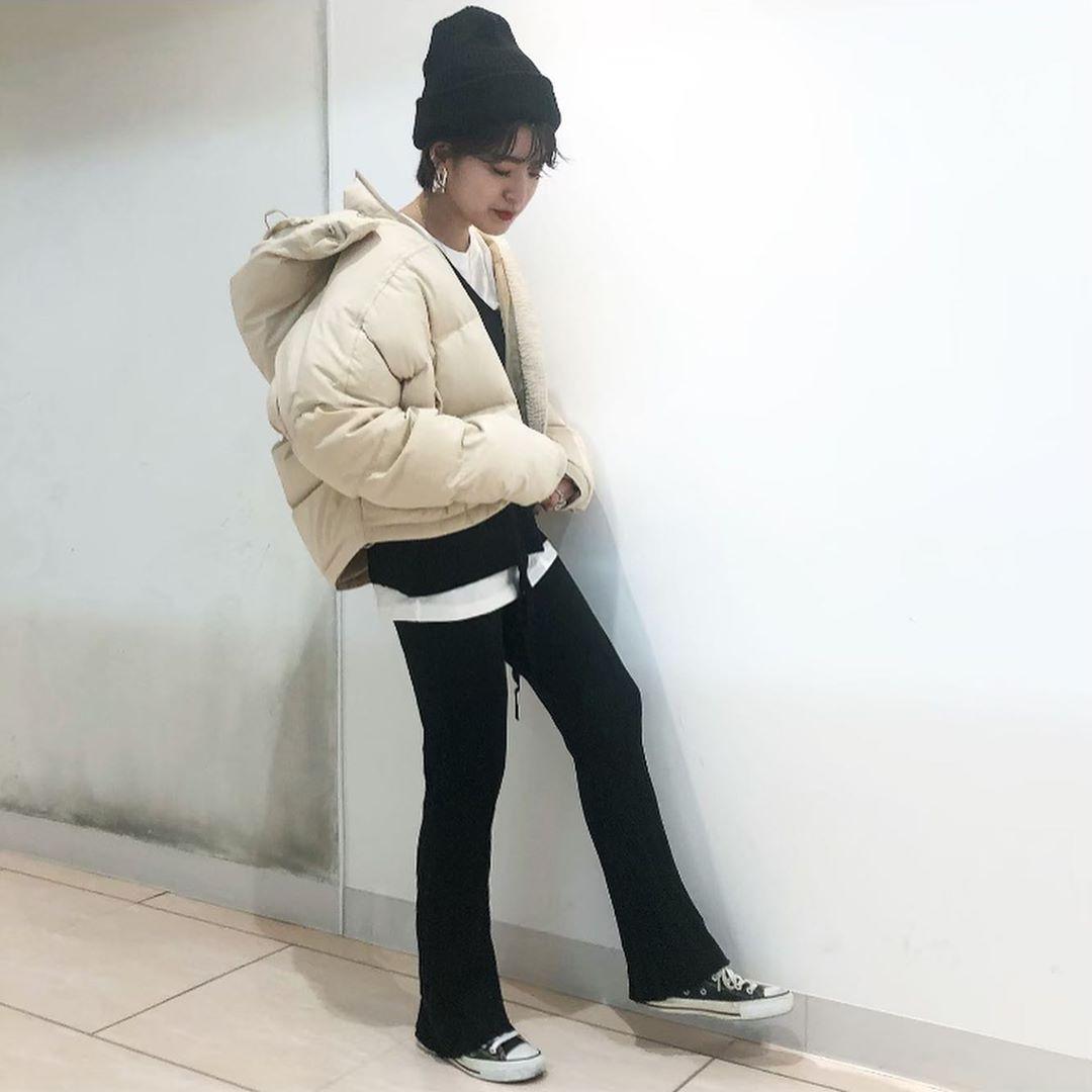 最高気温15度・最低気温5度 aikachaaanの服装