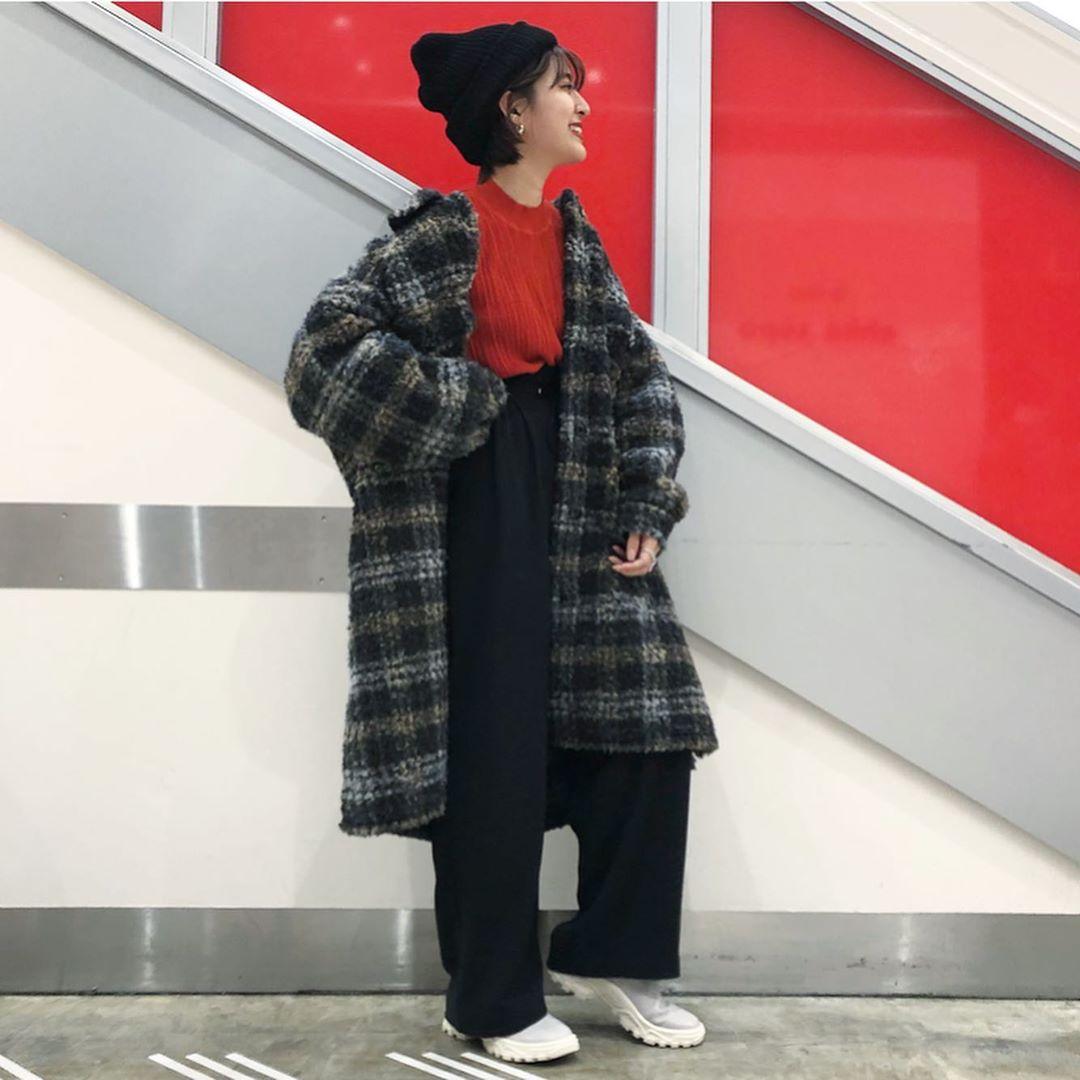 最高気温15度・最低気温7度 aikachaaanの服装