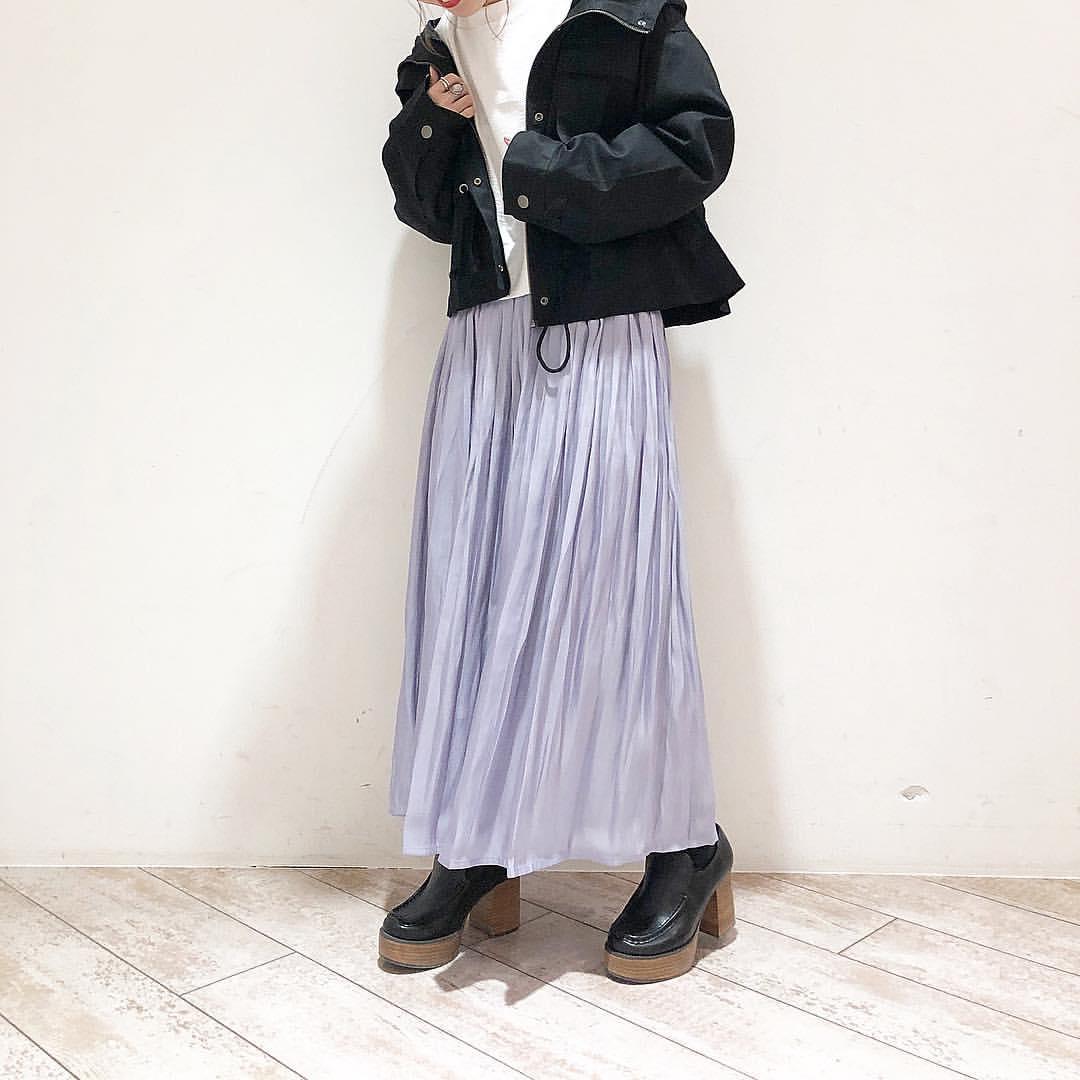 最高気温14度・最低気温8度 akaririri_1022の服装
