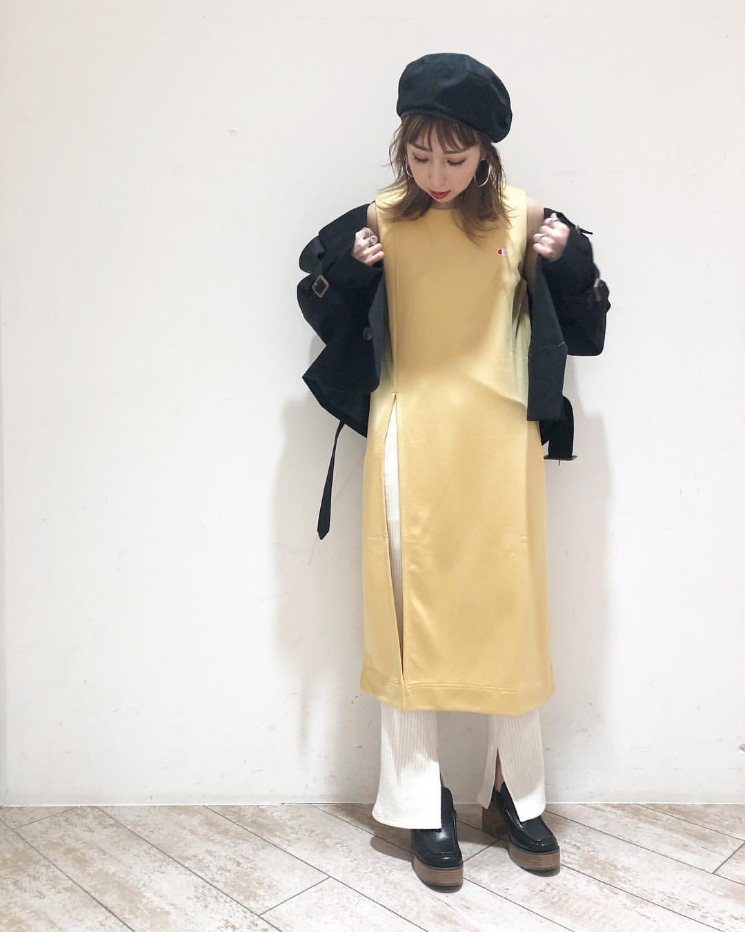 最高気温15度・最低気温3度 akaririri_1022の服装