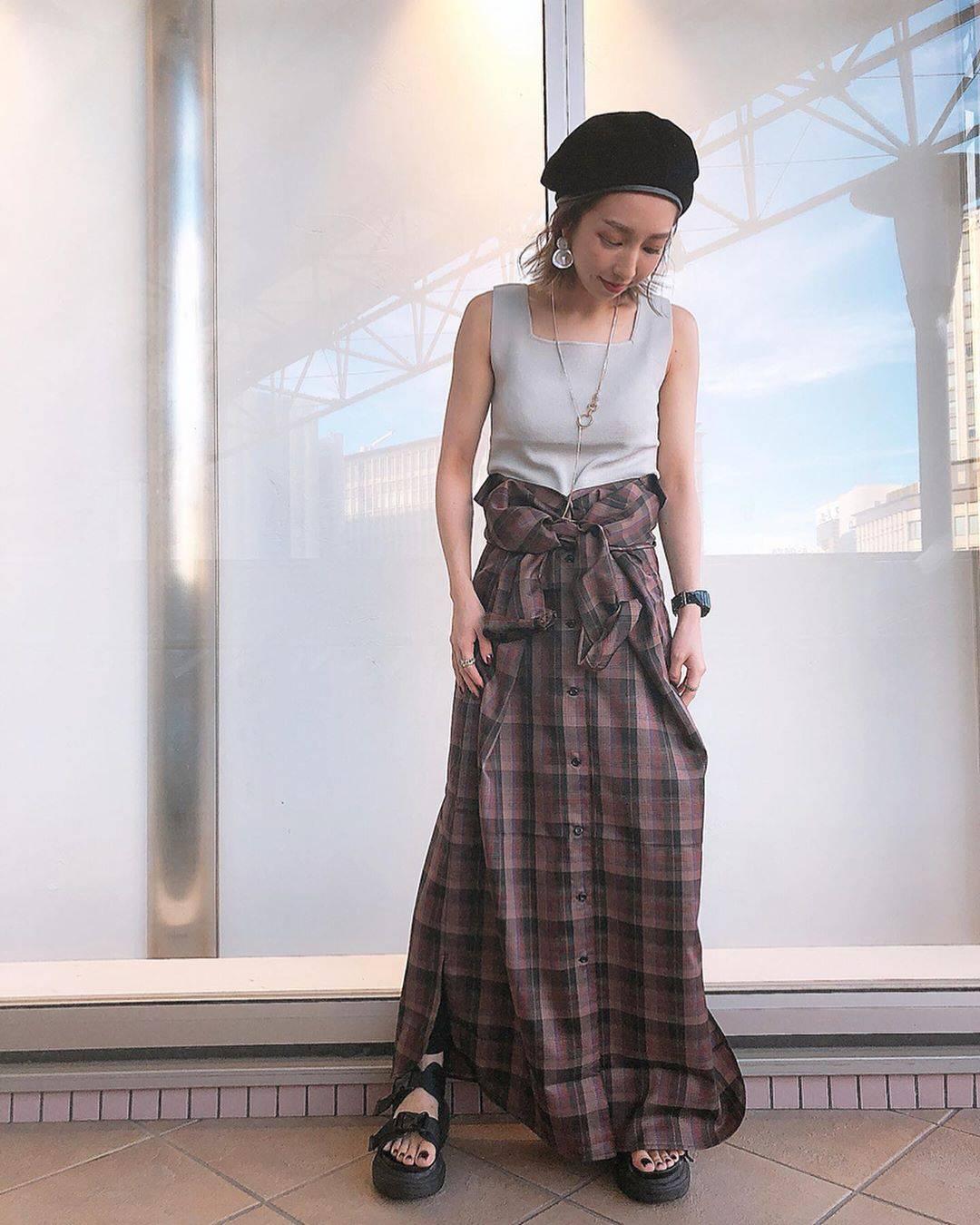 最高気温35度・最低気温25度 akaririri_1022の服装