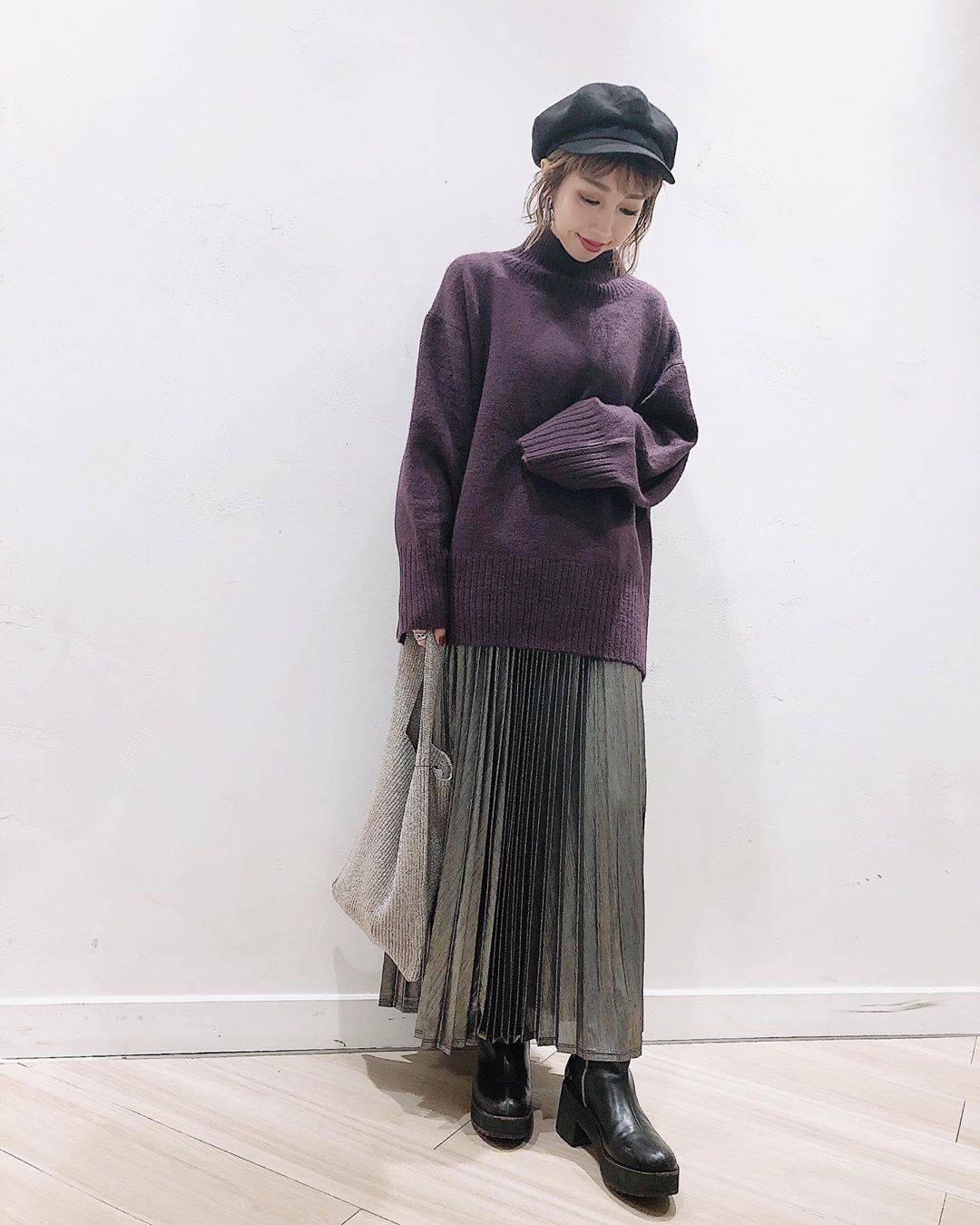 最高気温19度・最低気温10度 akaririri_1022の服装